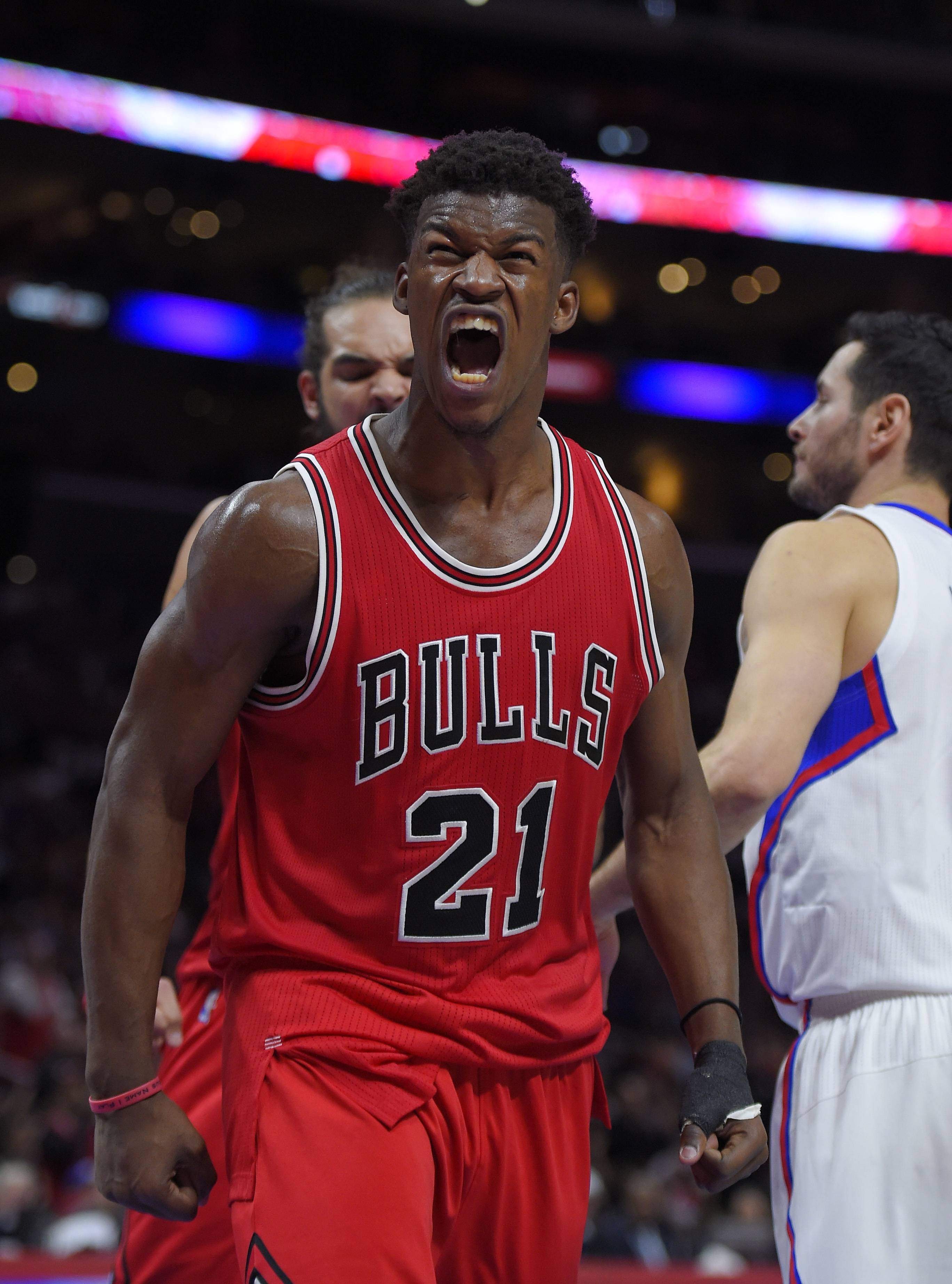 Guard Jimmy Butler has had reason to get excited: His 22 points helped get the Bulls off to a flying start on the annual circus trip.