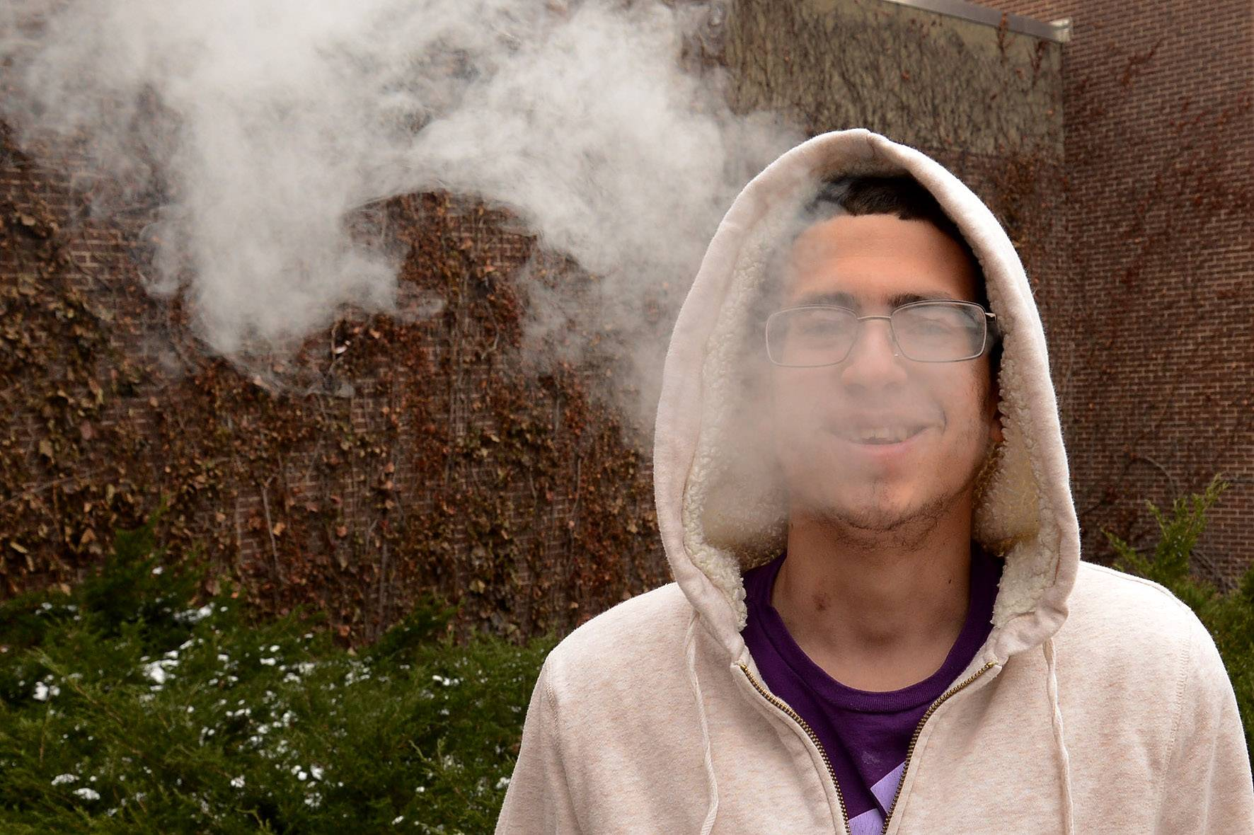 "Harper student Vicente Mouledous of Mount Prospect expects ""people will still keep smoking on campus."""
