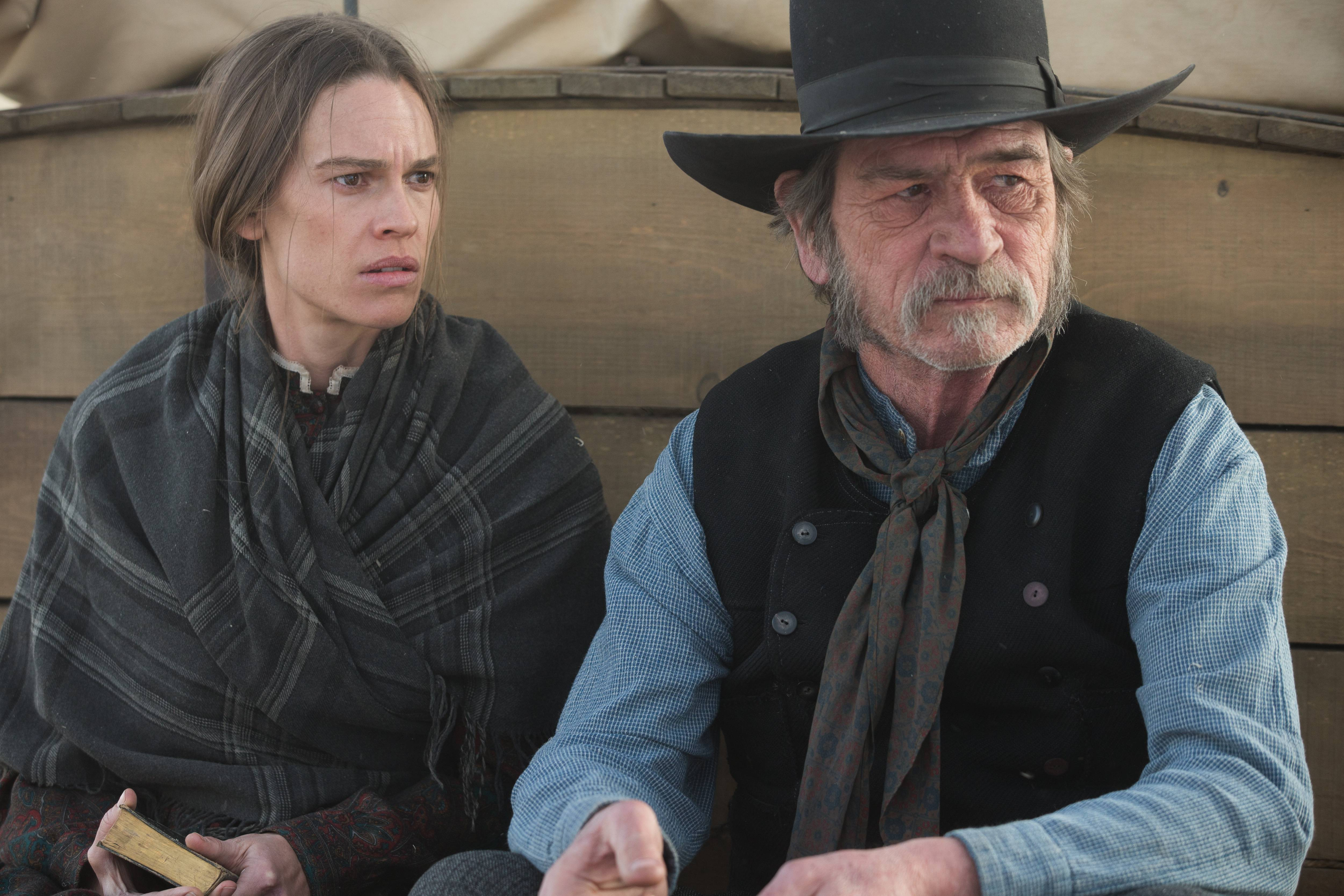 "Hilary Swank, who stars with Tommy Lee Jones in ""The Homesman,"" says Jones is a visionary."