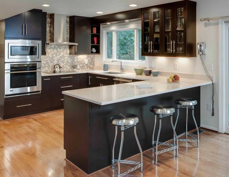 Black is the new white in kitchens for Updated kitchen remodels