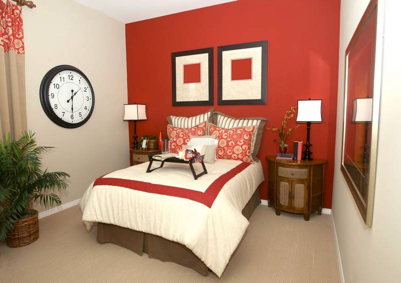 create the focal point painting one wall a different color or