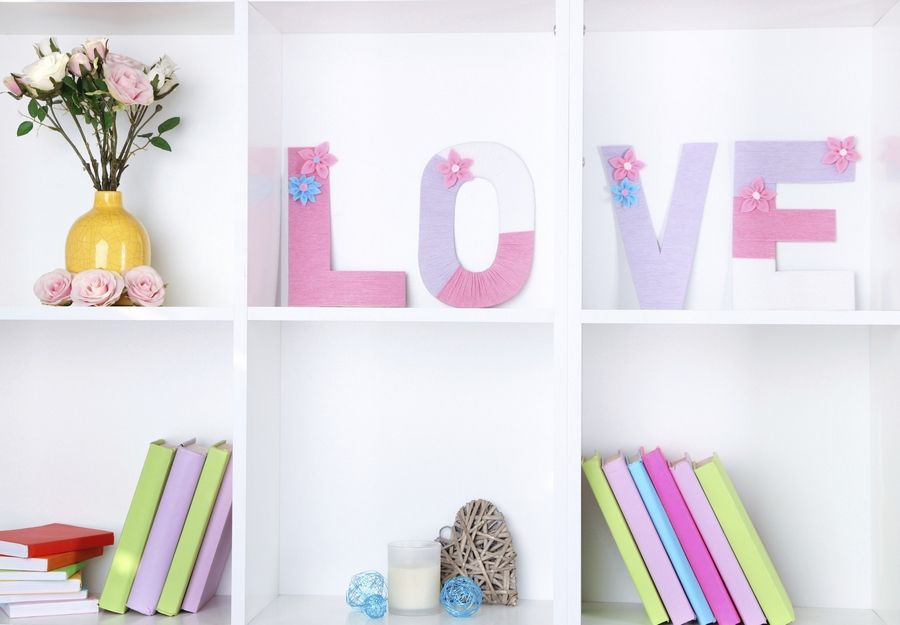 Don't overstuff bookcases. Leave empty space on shelves and use sparse accents.