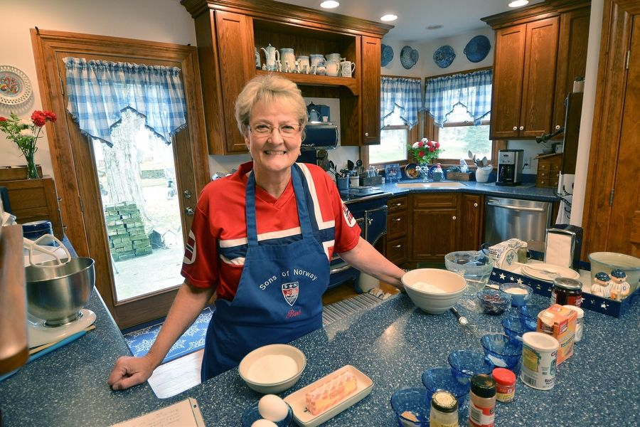 Barb Johnson connects with her Norwegian ancestry by cooking traditional savory and sweet dishes in her Yorkville home.