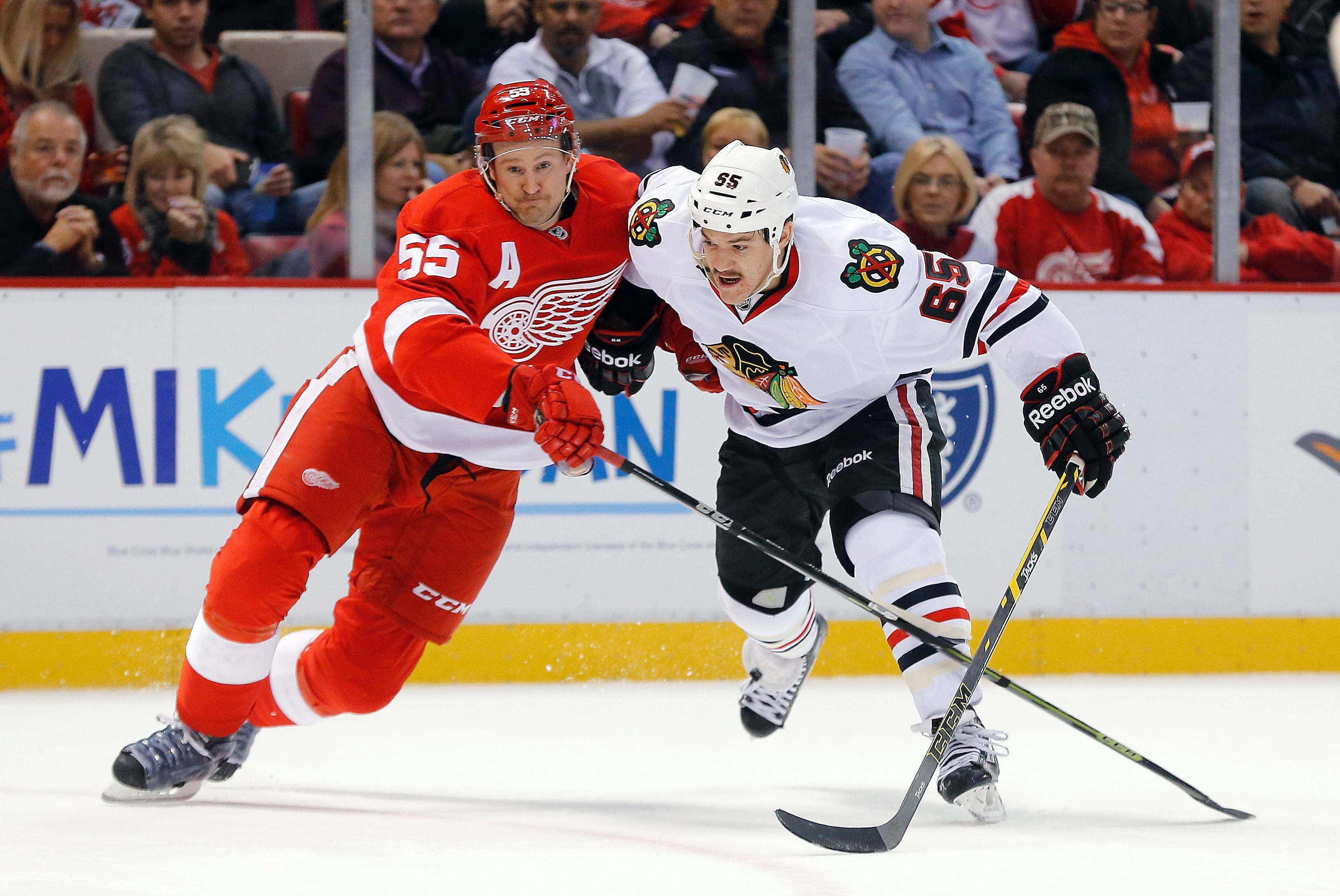 "After missing the opening leg of the circus trip with an upper body injury, Andrew Shaw will be back in the lineup tonight against Colorado. ""He's fine, he's ready,"" coach Joel Quenneville said following practice on Tuesday. ""He's excited about playing. He's back."""