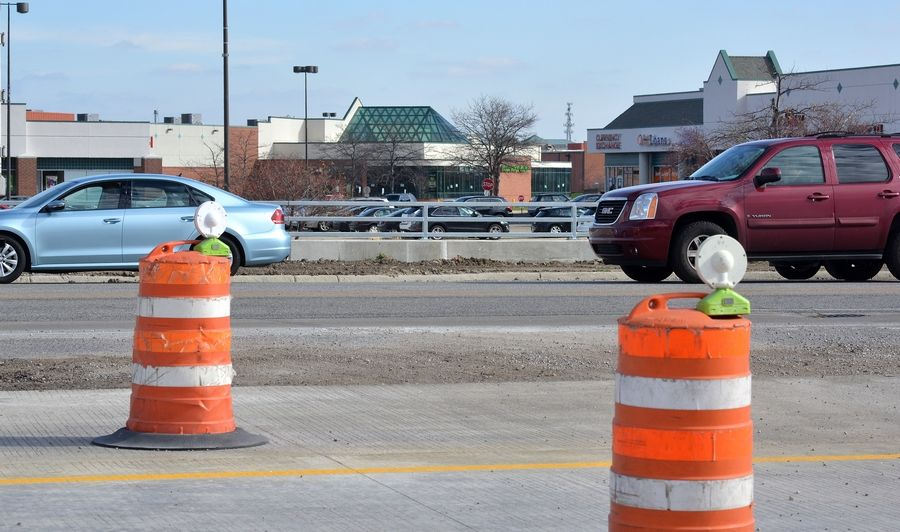 Businesses and travelers along Route 59 in Naperville and Aurora will have a Thanksgiving break from construction to widen the road.