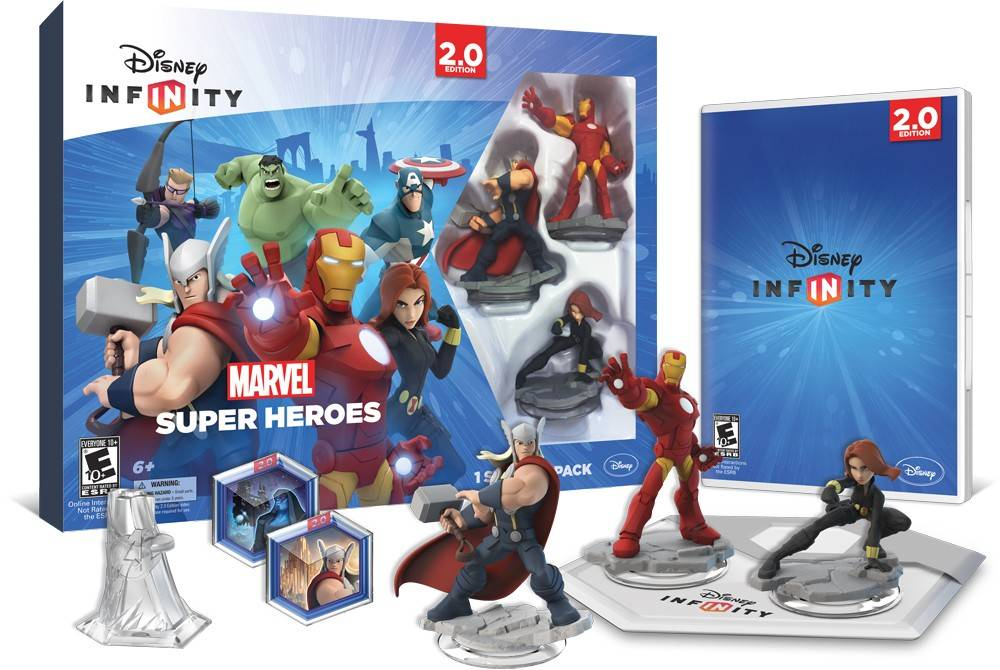 """Disney Infinity 2.0: Marvel Super Heroes"" (Disney, for the PS4, PS3, Xbox One, Xbox 360, Wii U, $74.99): The Walt Disney Co., meanwhile, has expanded its line of playable figurines by calling on the Avengers to assemble. The starter kit includes Iron Man, Thor and Black Widow, all starring in a goofy, kid-friendly adventure in Marvel's Manhattan. Additional heroes like Spider-Man and Groot cost $15 apiece."