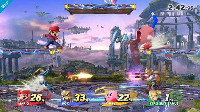 "Characters duke it out in ""Super Smash Bros. for Wii U."""