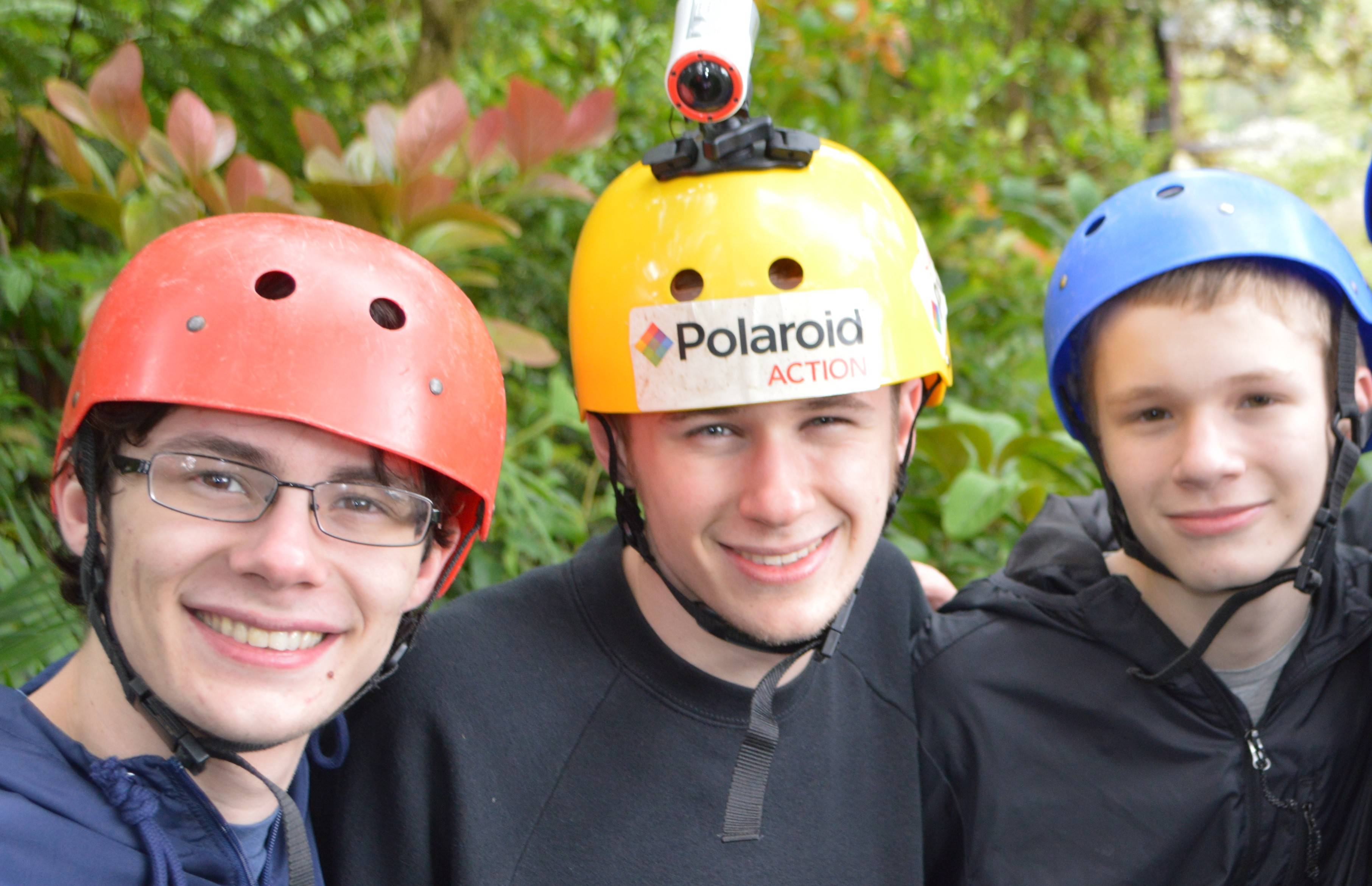 "Illustrating the perfect metaphor for life with three teenage boys, Ben, Ross and Will Constable are well-prepared to go zip-lining during the ""best family vacation ever."""