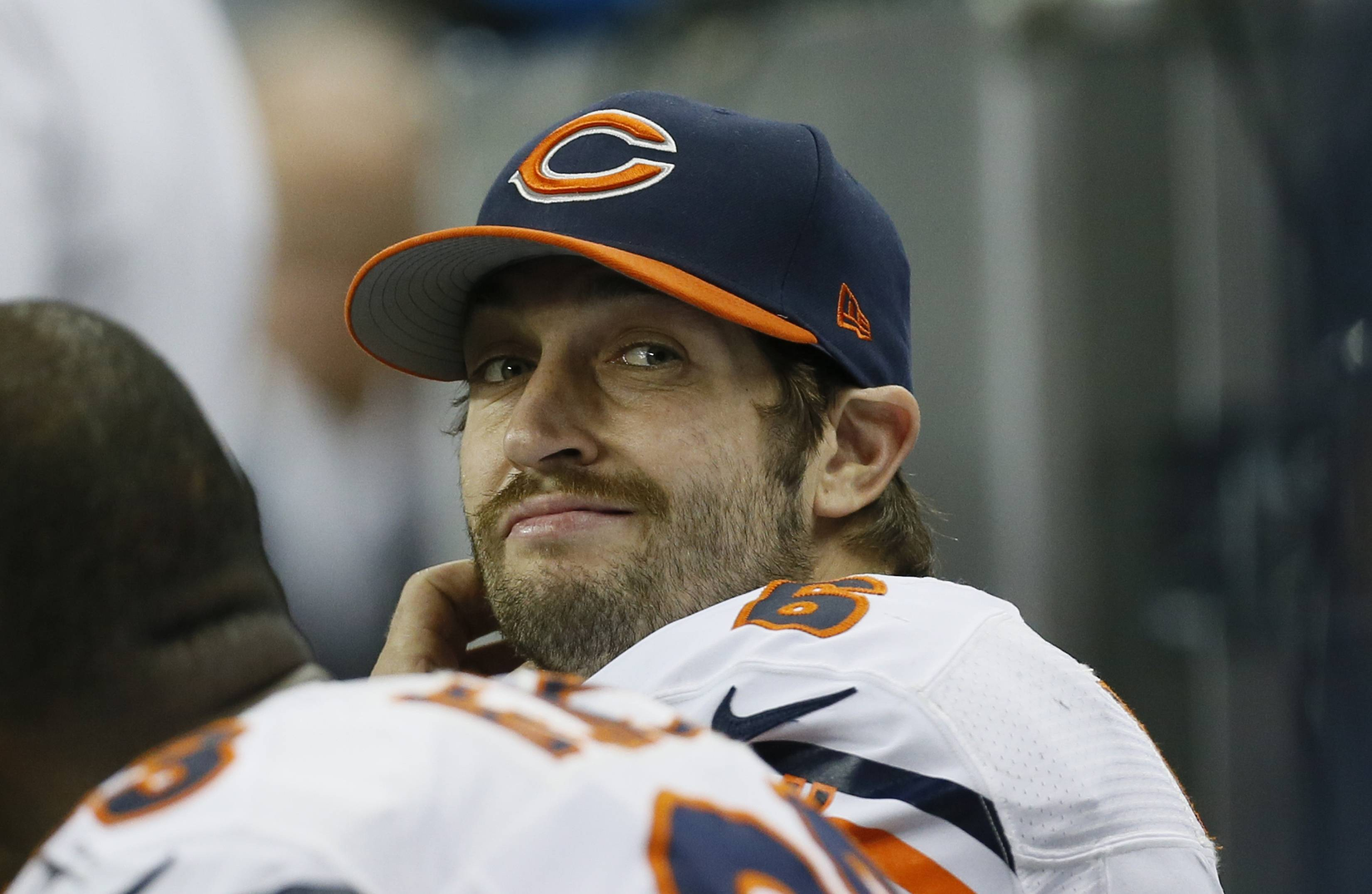 Bears quarterback Jay Cutler looks towards the scoreboard during Thursday's second half in Detroit.