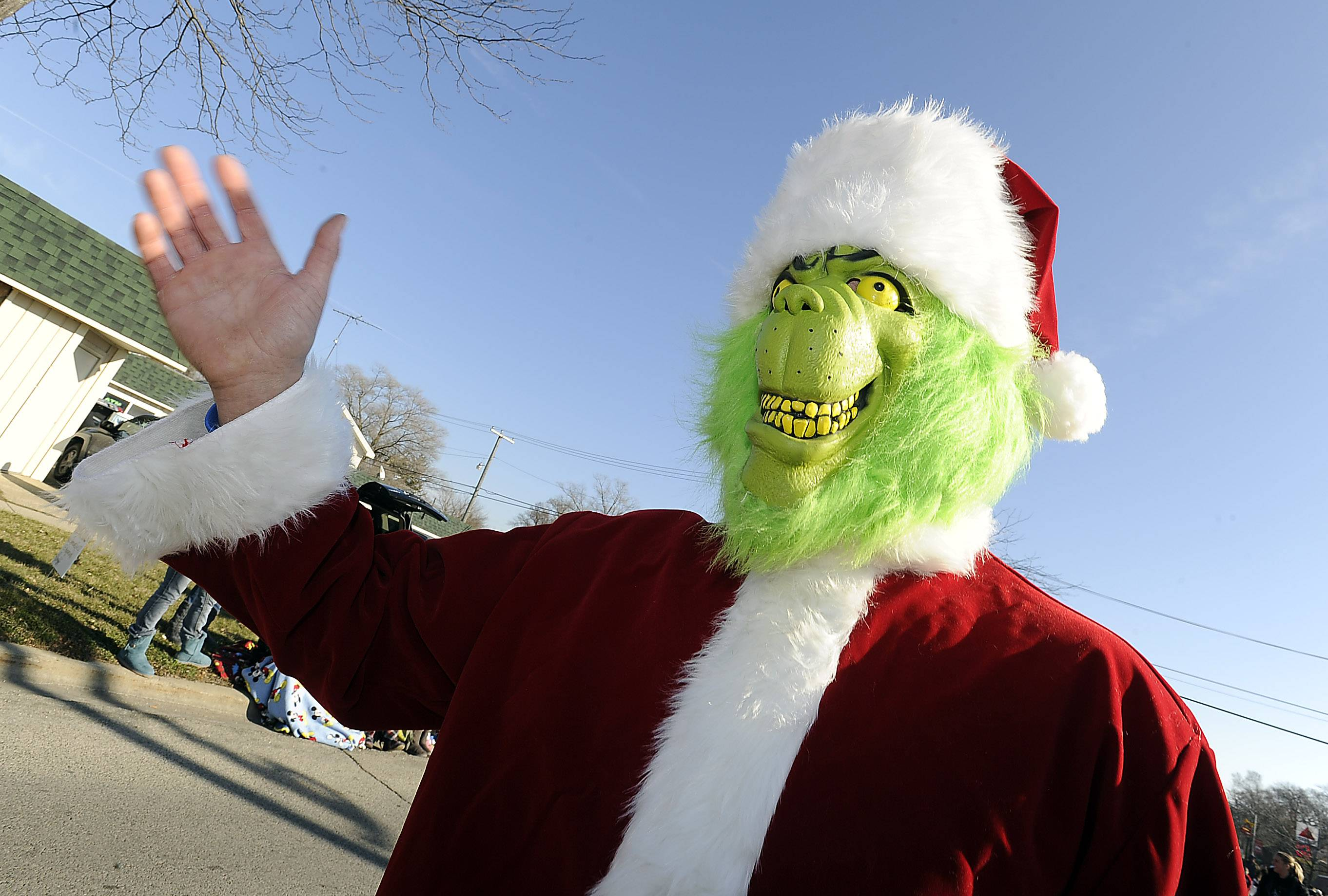 You never know which Christmas creatures will turn up at the Village of Fox Lake and Korpan's Landing 58th Annual Holiday Parade.