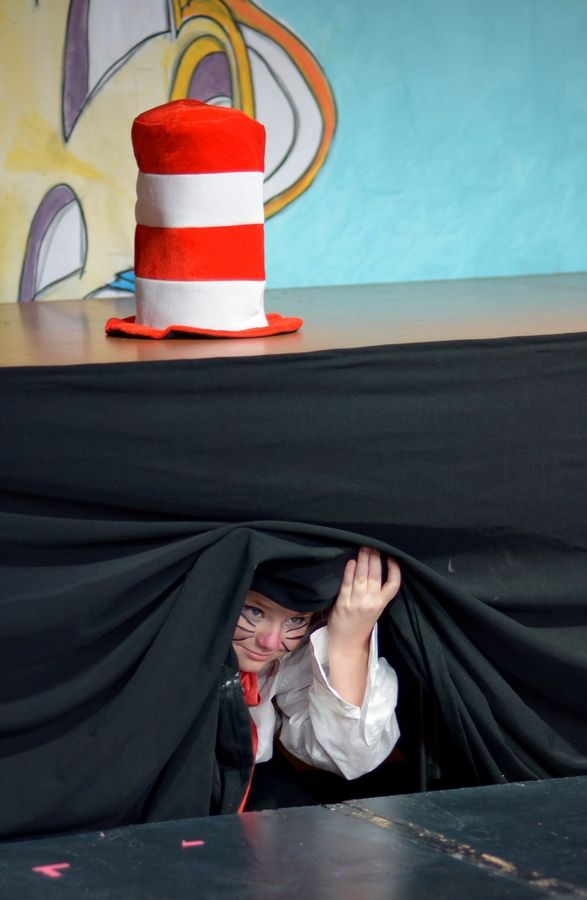 "Jayd Steinke is ready to rehearse the first scene of ""Seussical Jr."""
