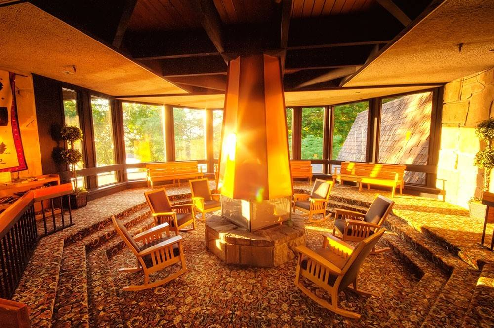 Enjoy the fireplace and holiday décor at Mohican Lodge in Ohio as Ohio State Parks get in on the seasonal spirit with festive events through the end of the year.