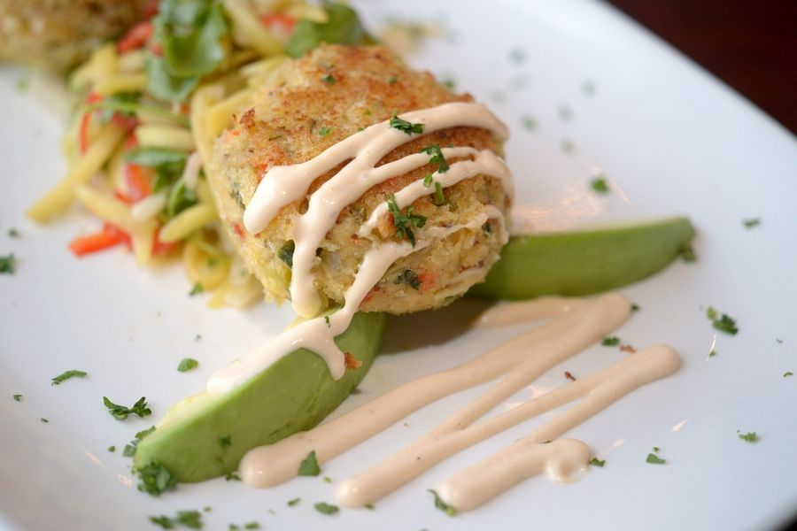 Panko crusted crabcakes are a pleasing appetizer at Top Table in St. Charles.