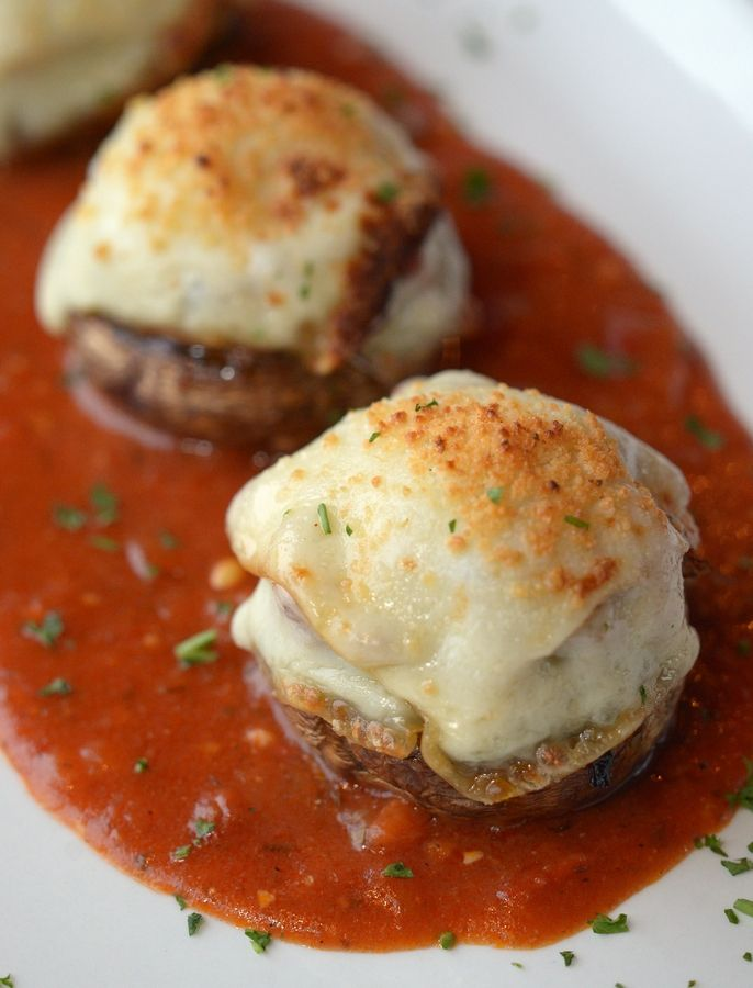 Top Table's pesto-stuffed mushrooms are a delicious twist on a classic steakhouse starter.