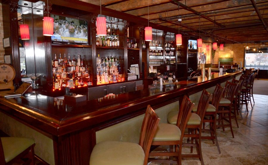 The bar at Top Table offers a moderately priced selection of cocktails, beers and wine.