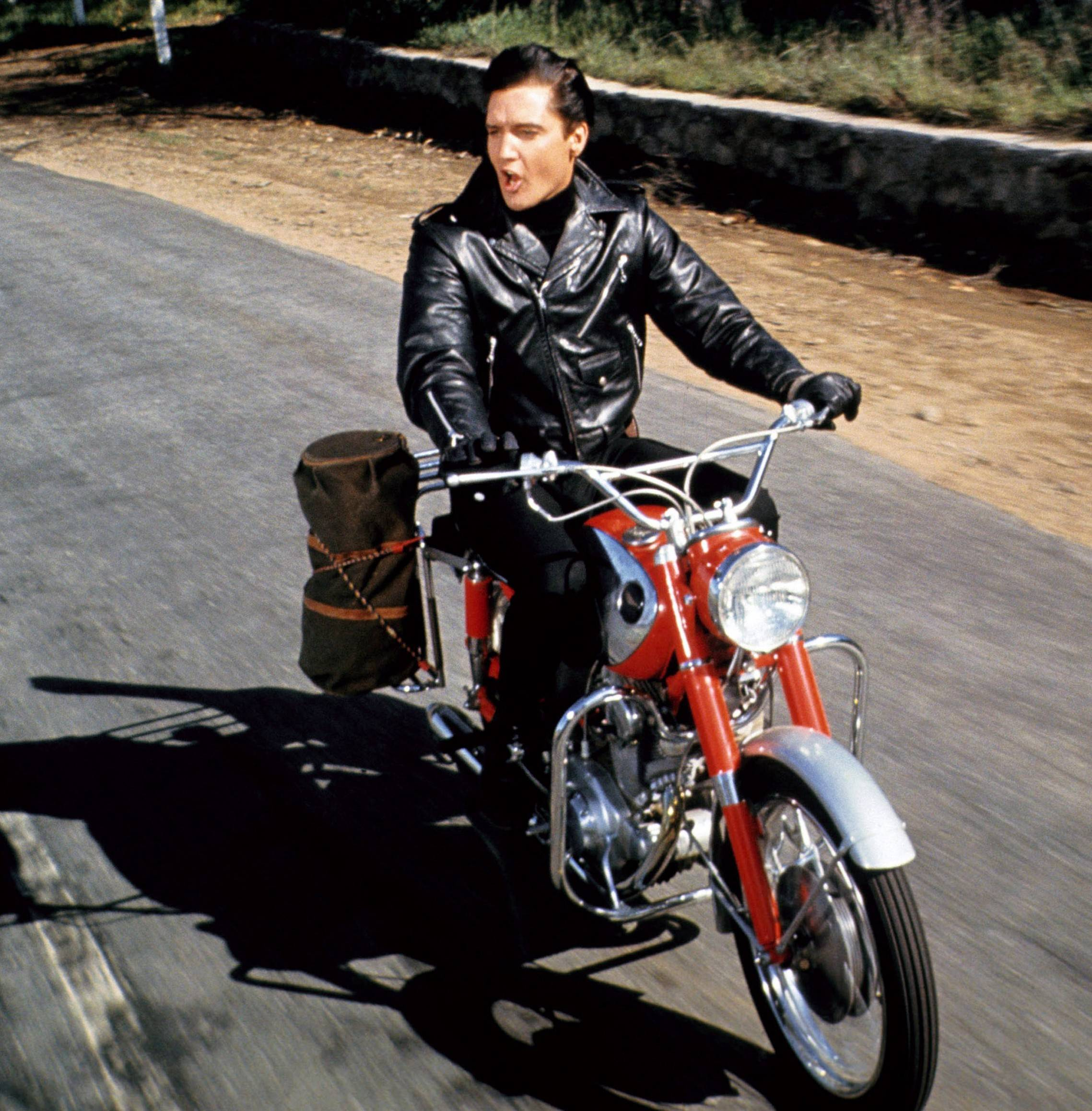Leather Motorcycle Jacket With Armor Elvis Presley made this leather jacket cool in the 1964 movie ...