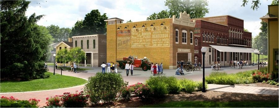 Naper Settlement wants to build a 31,000-square-foot museum that would re-create the exterior of a historical bank and gathering place called Scott's Block. The $30 million project could be a gift to the city to celebrate its 200th anniversary in 2031.