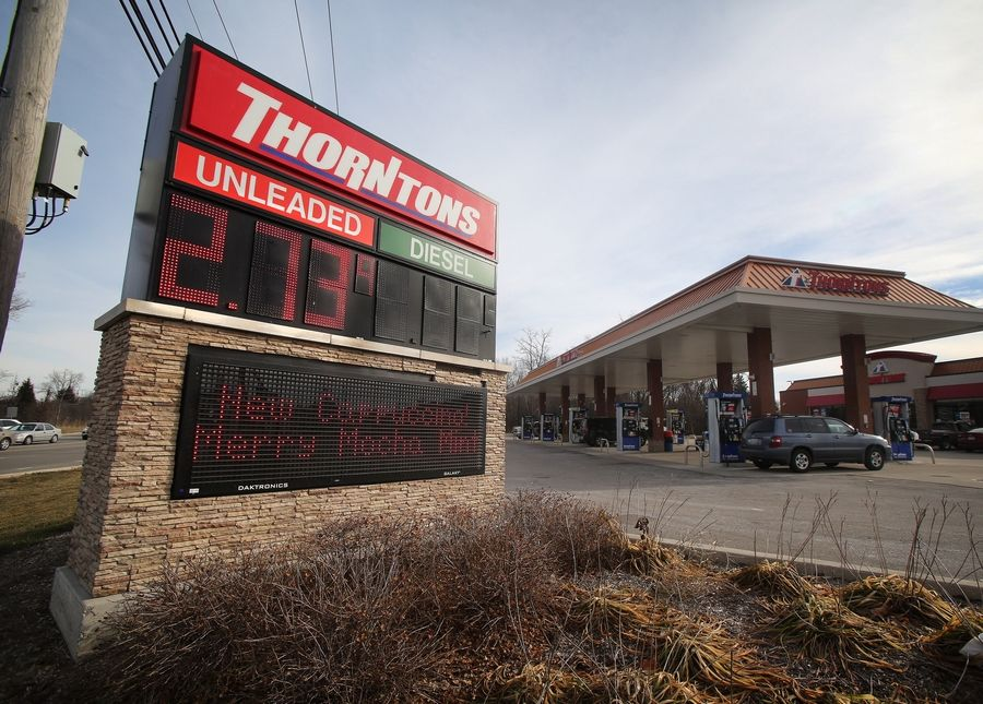 Thorntons Gas Prices >> Auto Sales Rise As Gas Prices Interest Rates Fall