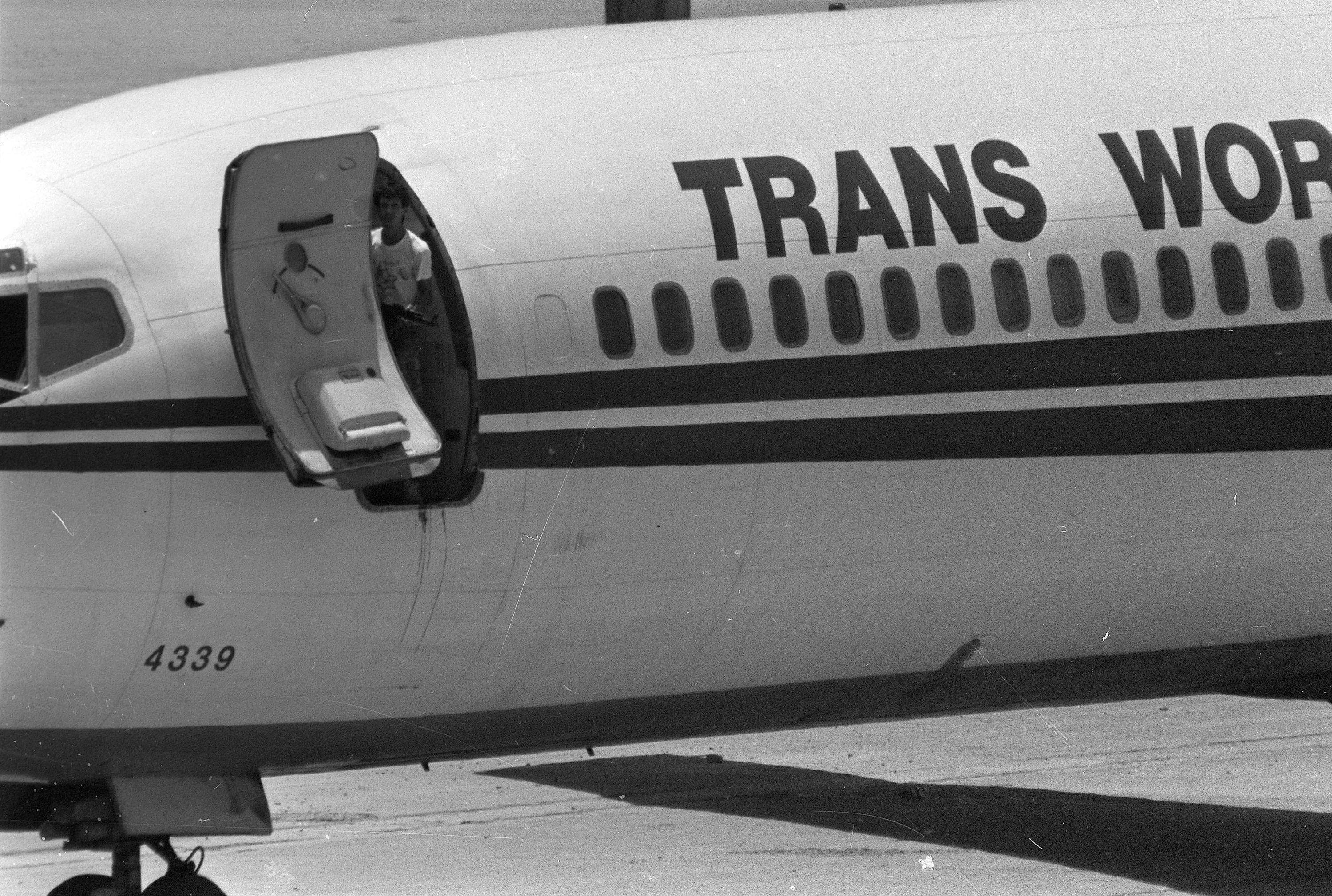 TWA Flight 847 from Athens to Rome was hijacked on June 14, 1985, by Shiite Hezbollah militants who forced the plane to land in Beirut, Lebanon.