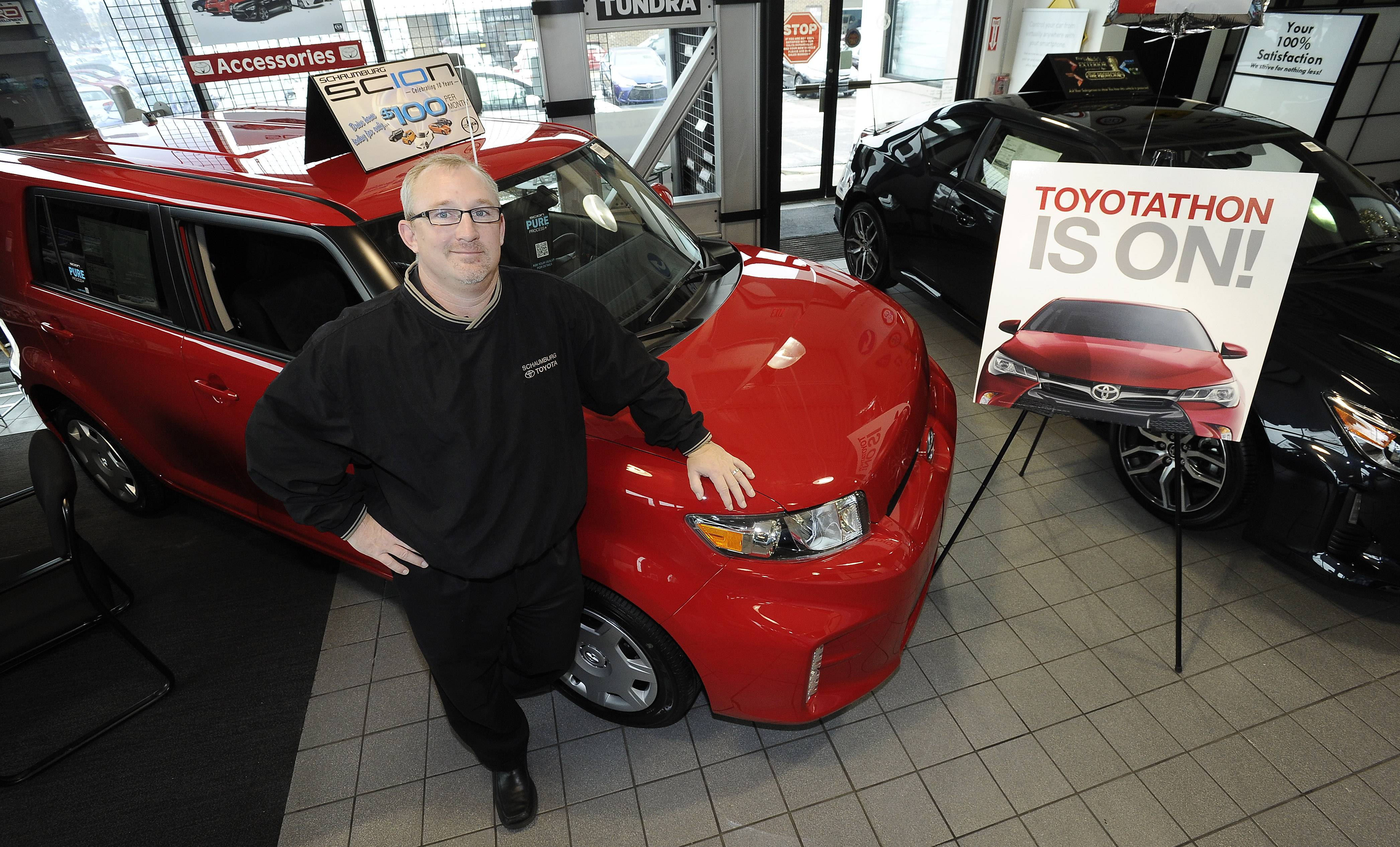 Scion offers five models with a modern appeal that are available during Schaumburg Toyota's annual Toyotathon sales event, said Chris Haley, general manager.