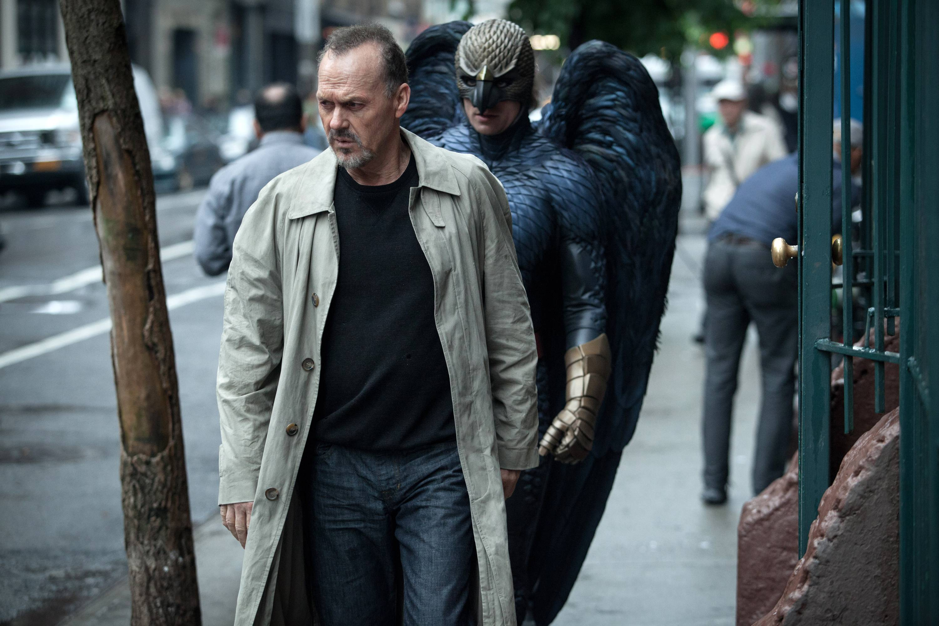 "Michael Keaton, as washed-up Hollywood actor Riggan Thomson, and the film ""Birdman"" both earned Screen actors Guild Award nominations Thursday."