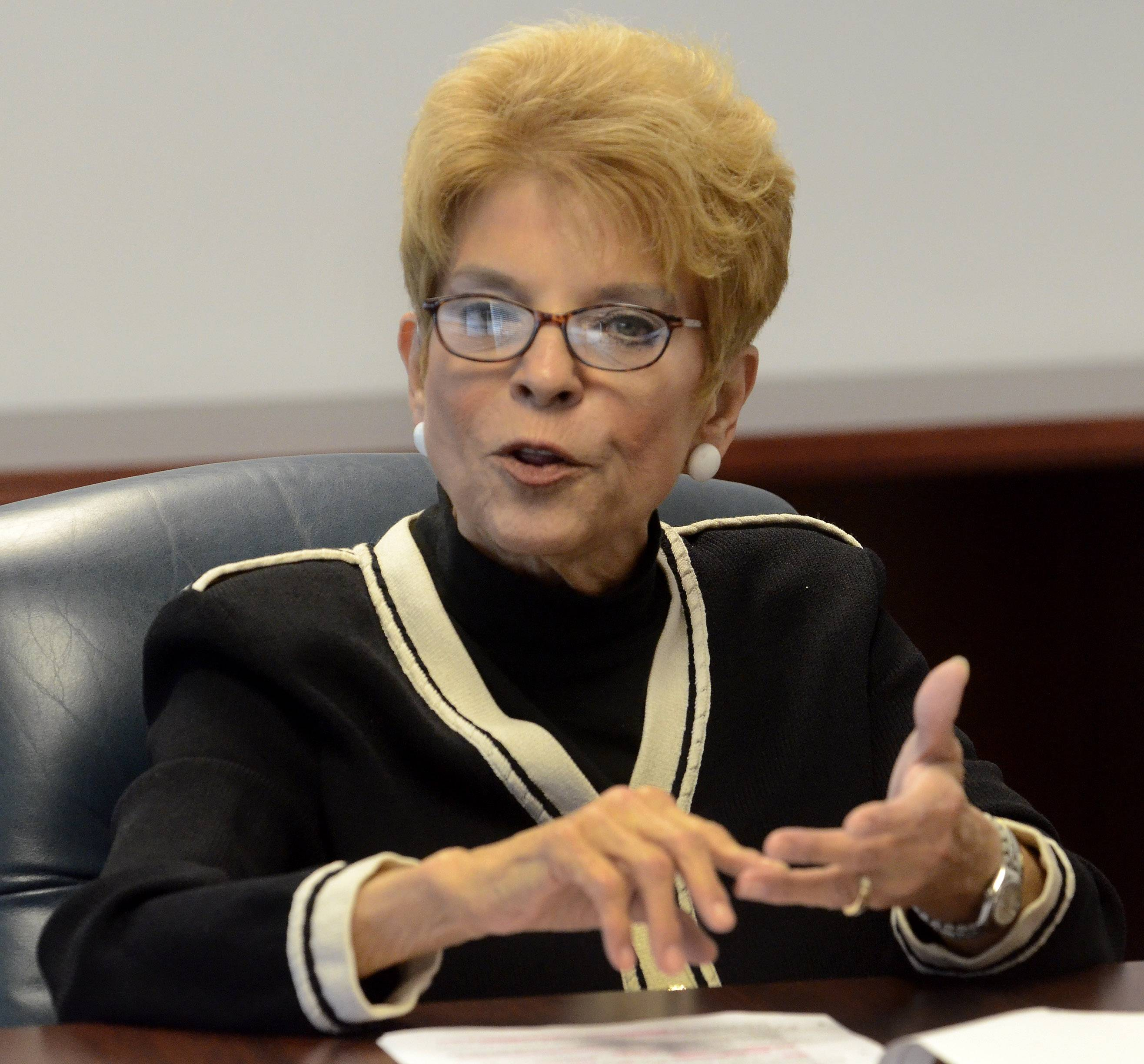 Illinois Comptroller Judy Baar Topinka met with the Daily Herald Editorial Board earlier this year before her re-election to the office in November.