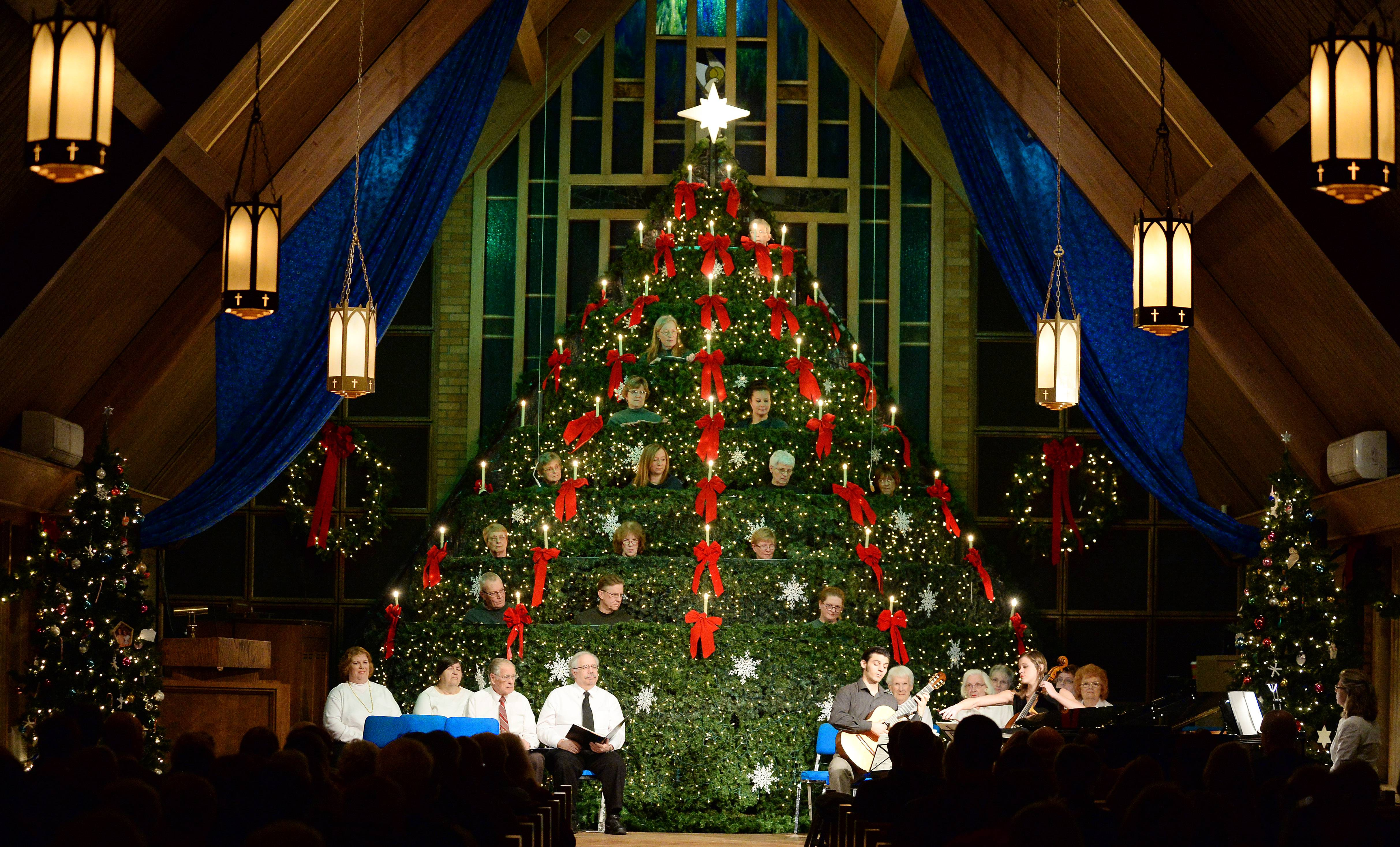 A choir and Christmas music were part of festivities at the Community Presbyterian Church in Mt. Prospect on Friday.
