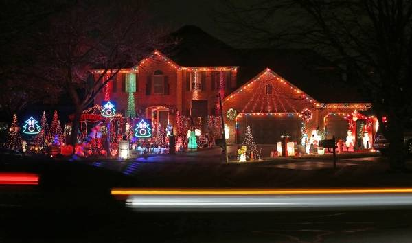 with his extensive holiday light decorations nick thomas refers to his house as the