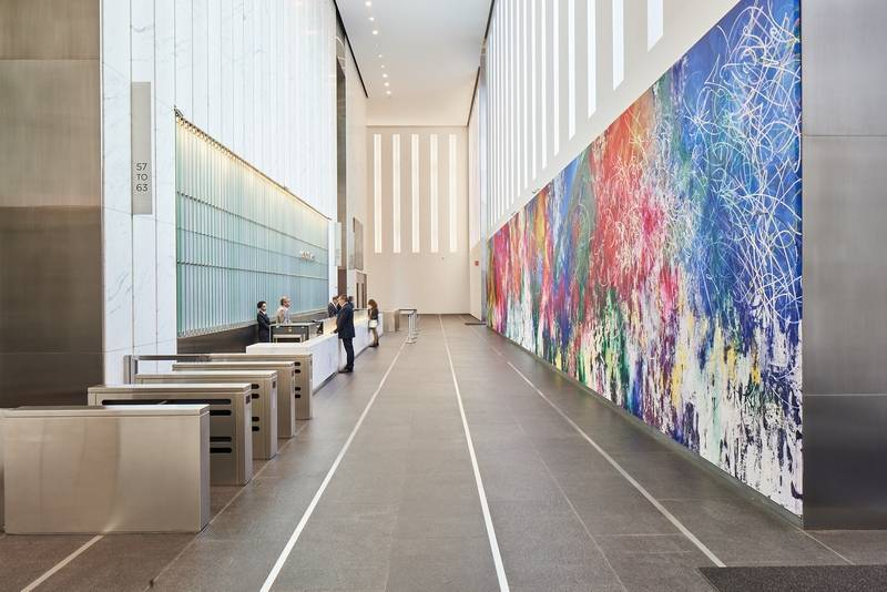 World Trade Center Tower Boasts Large Scale Art