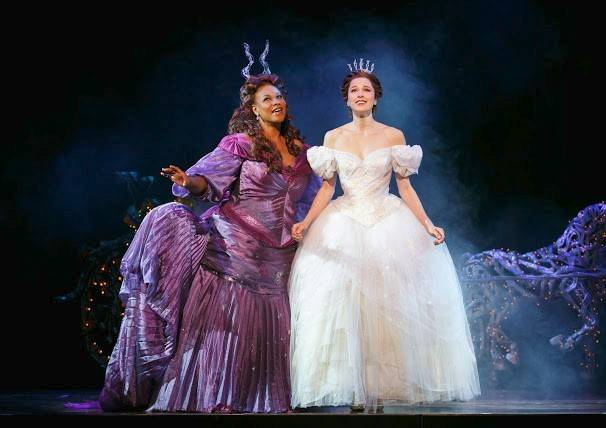 "Fairy godmother Marie (Kecia Lewis), left, convinces Ella (Paige Faure) that anything is possible in ""Rodgers & Hammerstein's Cinderella,"" the 2012 Broadway hit in its first national tour. Faure fell ill opening night and was replaced by understudy Audrey Cardwell."