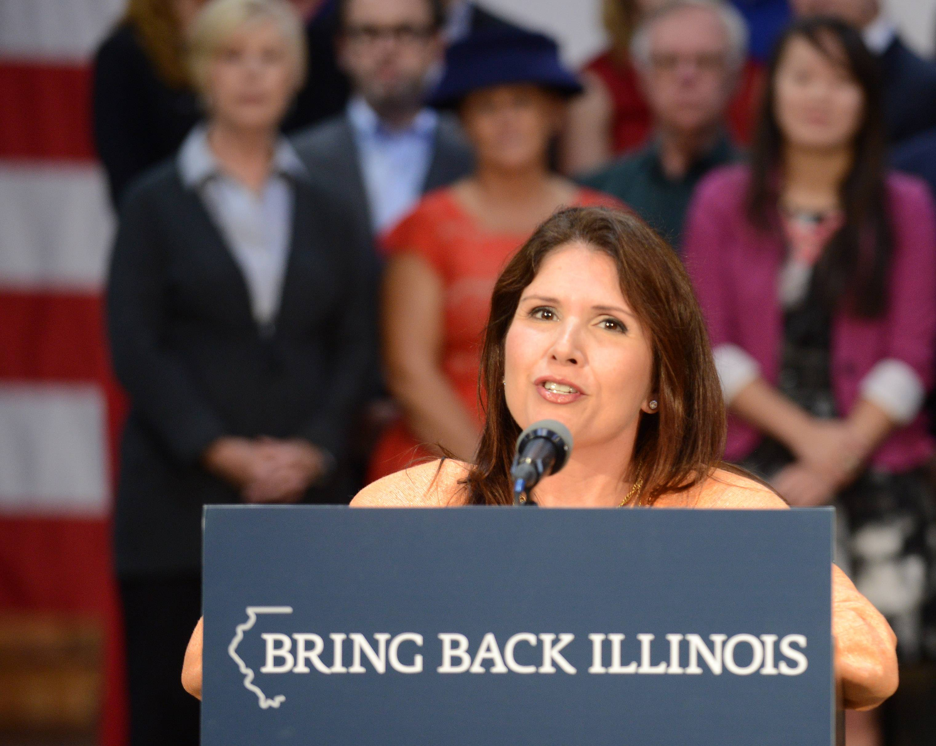 Evelyn Pacino Sanguinetti resigned from the Wheaton City Council earlier this week in advance of her swearing in as Illinois lieutenant governor.