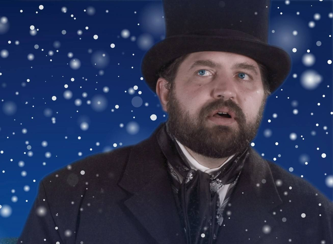 "Joel Huff stars in Organic Theatre Company's production of ""Jacob Marley's Christmas Carol"" at North Central College's Meiley-Swallow Hall in Naperville."