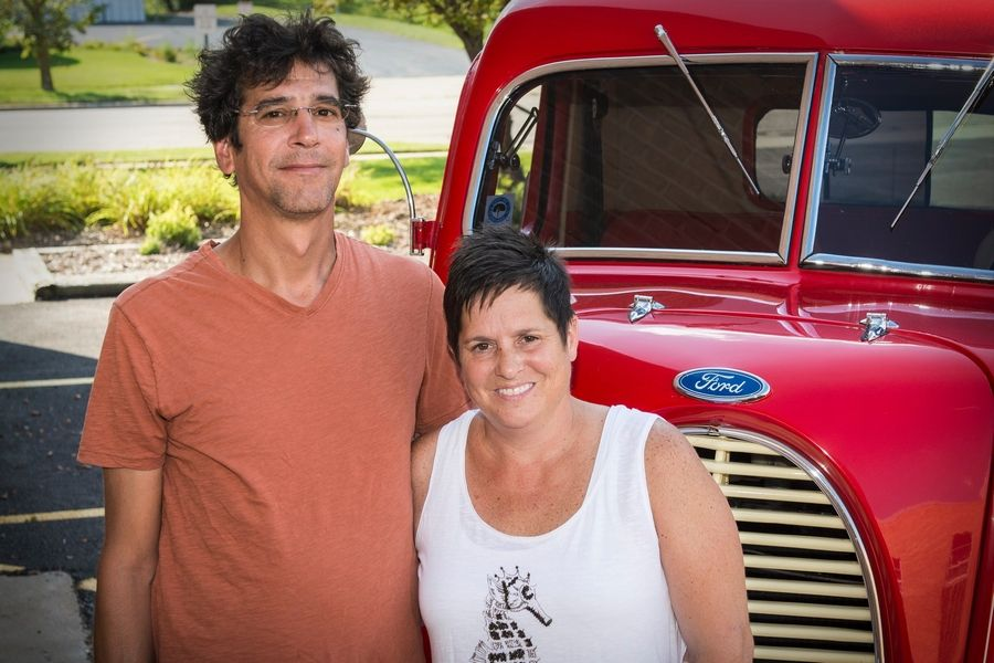 Fred and Dawn Castro of Elmhurst met in kindergarten, dated in high school and later married. Fred helped Dawn's father complete his custom truck rebuild.