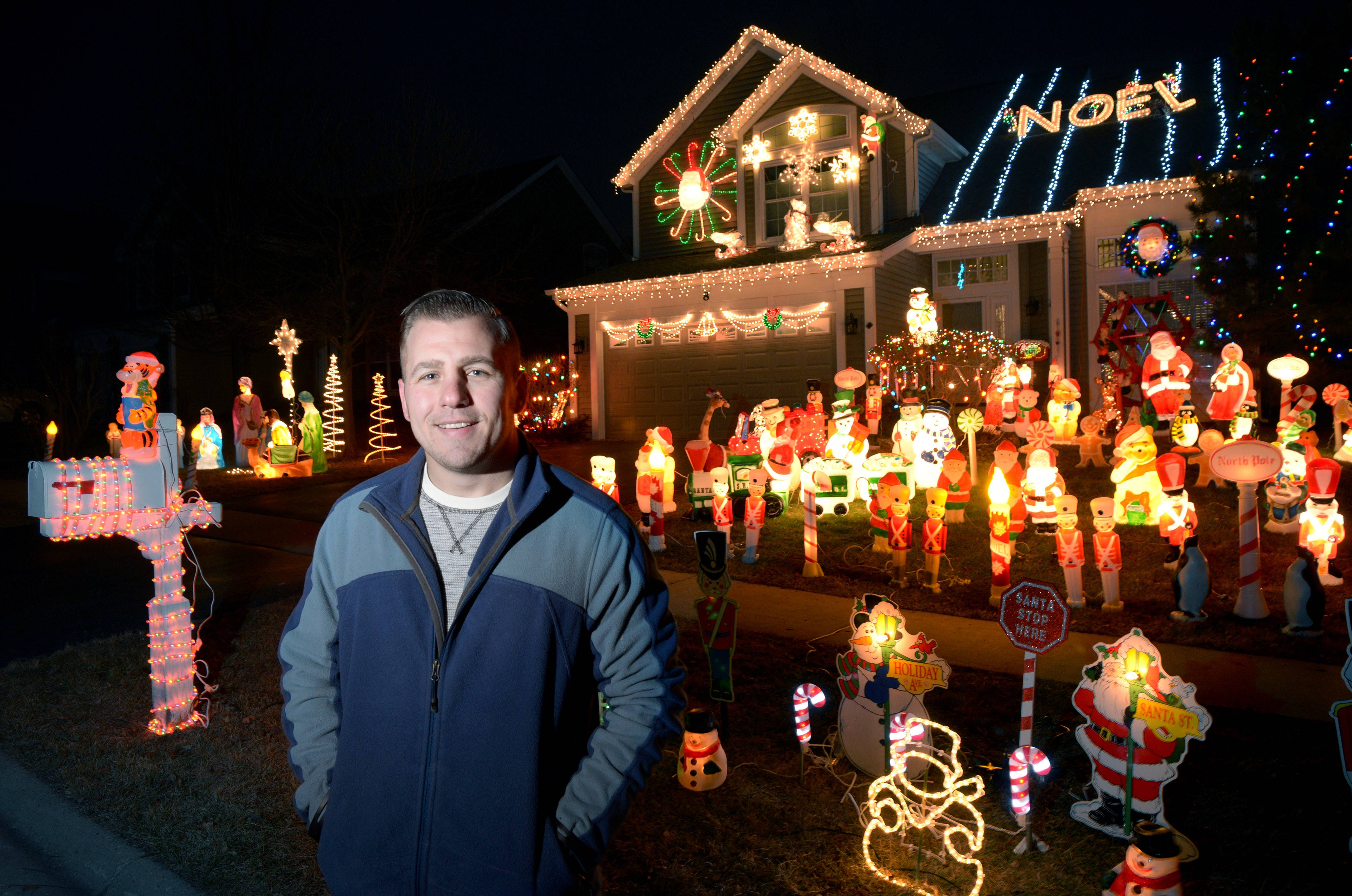 "Neil ""Butch"" Berkowitz of Lake in the Hills was voted the winner of the Daily Herald Holidays Lights contest. Berkowitz helped decorate his grandmother's Prospect Heights home since he was a toddler and has continued the tradition in his own home in Lake in the Hills."