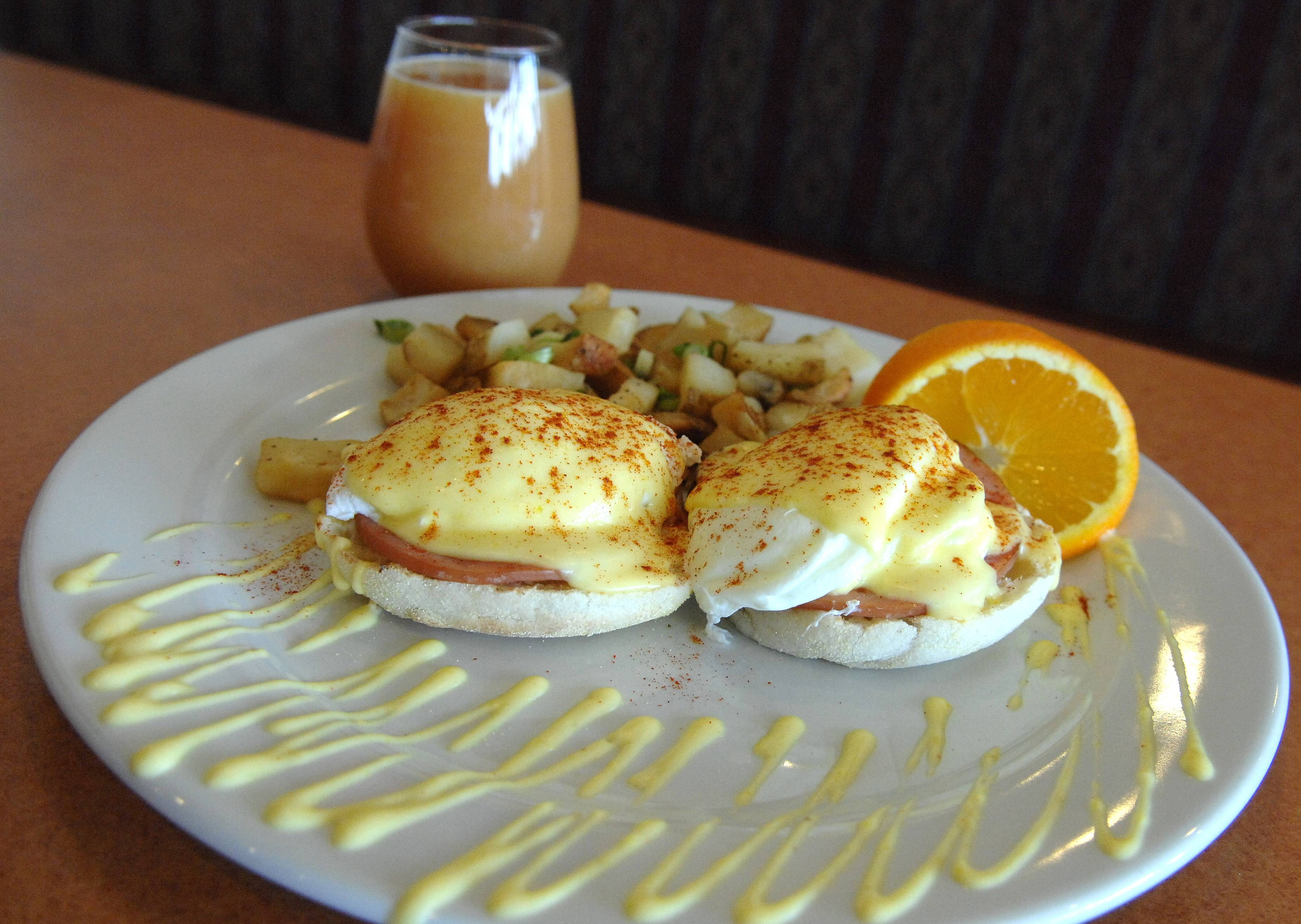 Eggs benedict from Sweet Berry Cafe in South Elgin