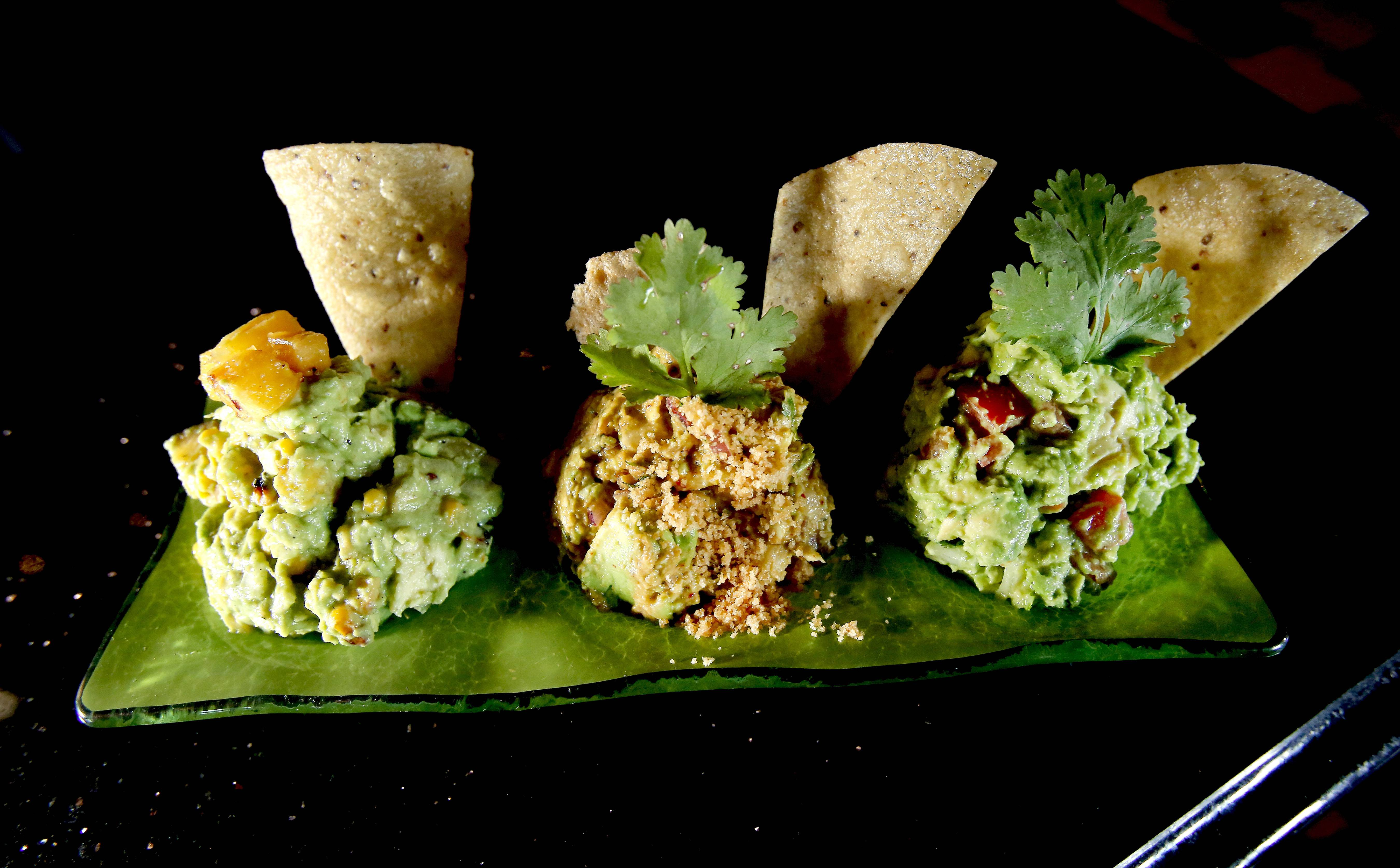 A trio of guacamole at Barbakoa restaurant in Downers Grove