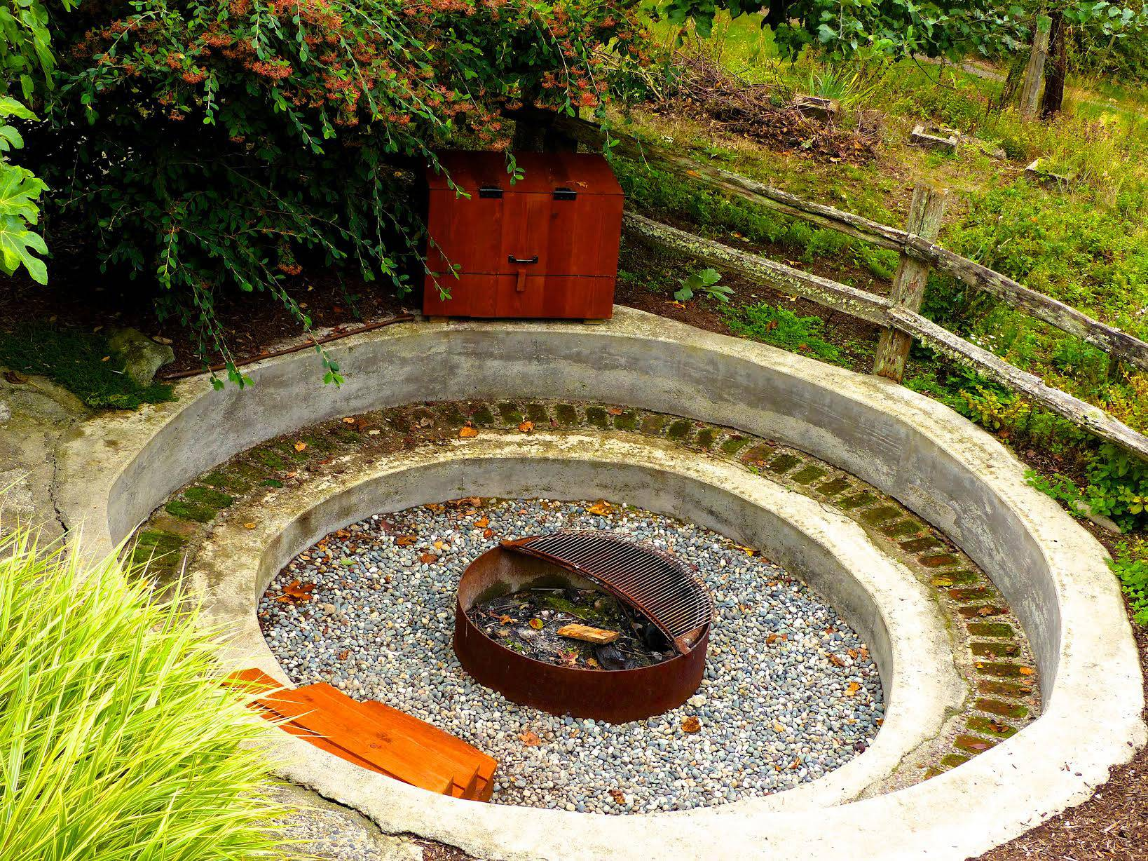 woodburning fire pits are common in suburban backyards but more and more people - Fire Rings