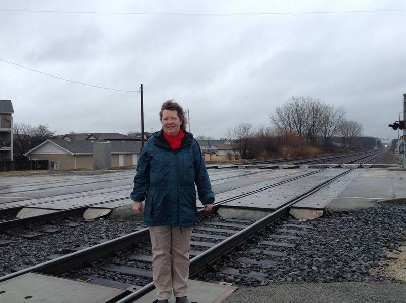 Naperville resident Kathy Benson is concerned about a serious spill involving an oil train on the BNSF Railroad near her neighborhood.