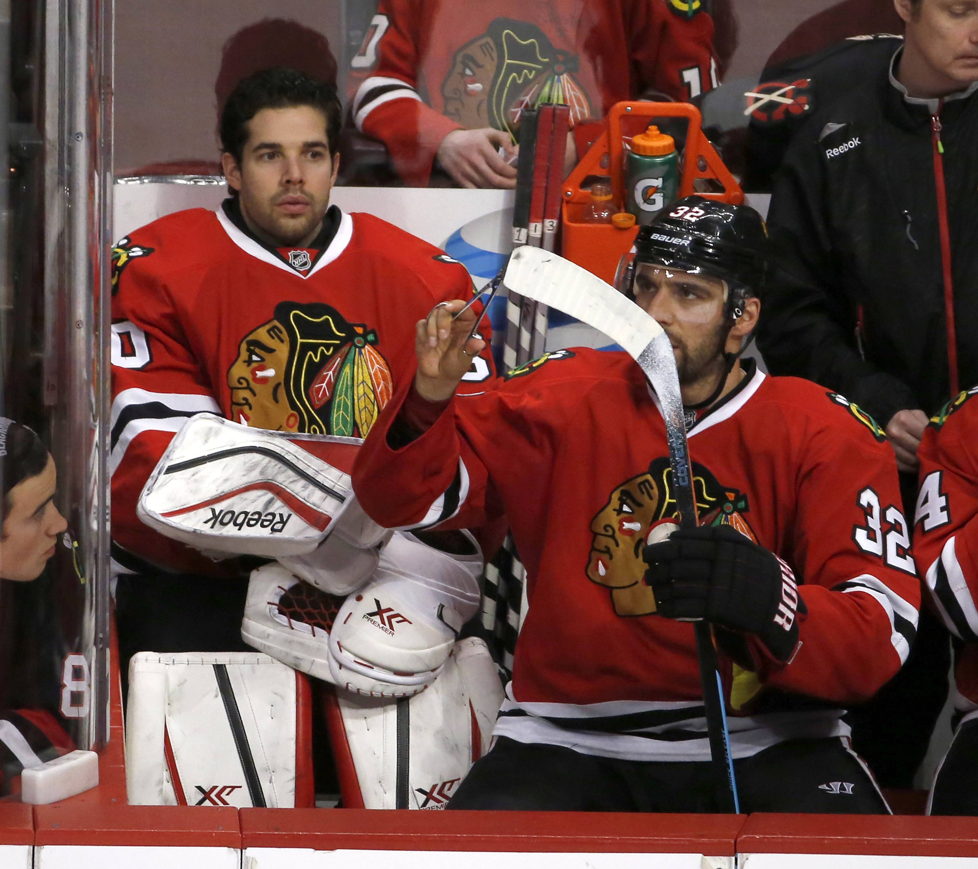Could Blackhawks starting goalie Corey Crawford, taken out of the game Tuesday after giving up 3 first-period goals to the Jets, be traded after this season?