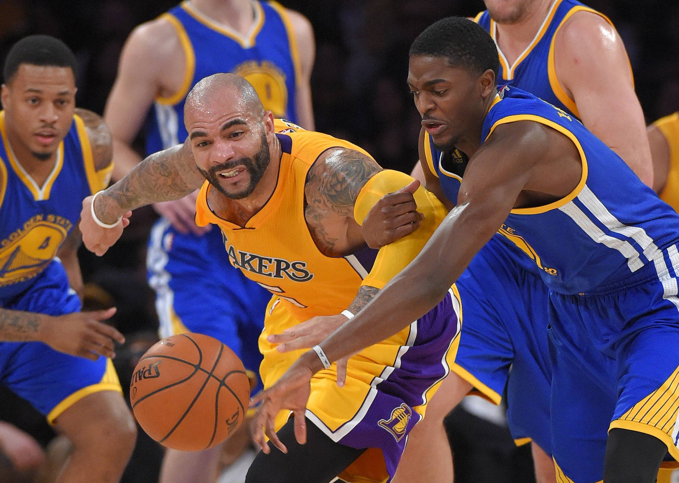 Former Bulls forward Carlos Boozer and the Los Angeles Lakers visit the United Center on Thursday night.