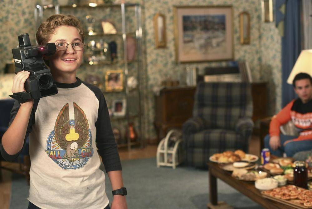 "Actor Sean Giambrone of Park Ridge holds his camera on ABC's ""The Goldbergs."""