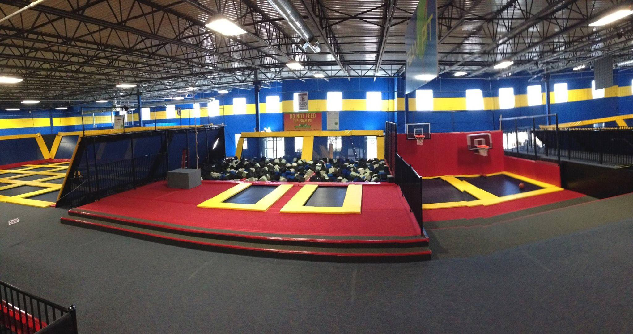 Kids and adults can literally bounce off the walls at Sky High Sports in Naperville.