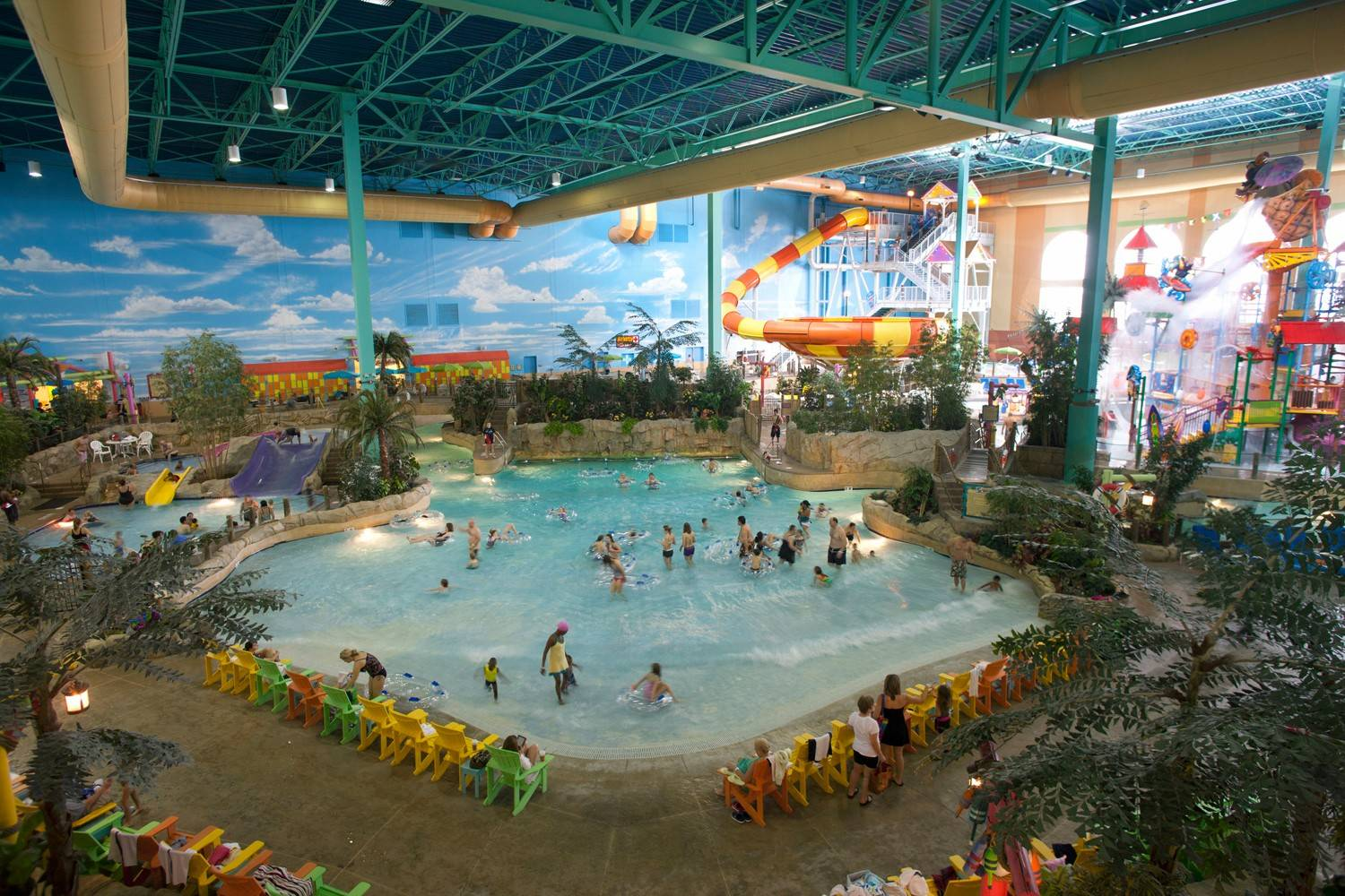 It's always sunny and 84 degrees inside KeyLime Cove's indoor water park in Gurnee.