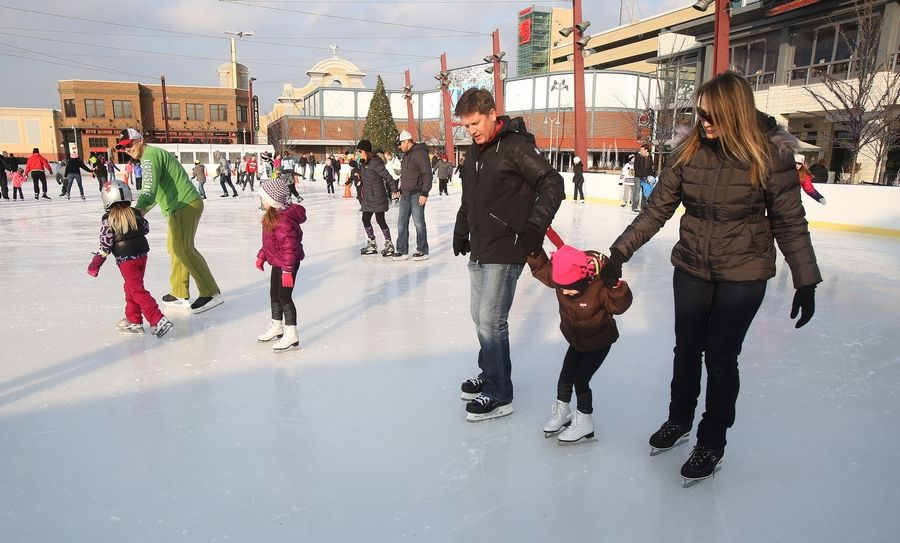 Rosemont S Mb Financial Park Entertainment District Features An Nhl Sized Rink That Available For Public