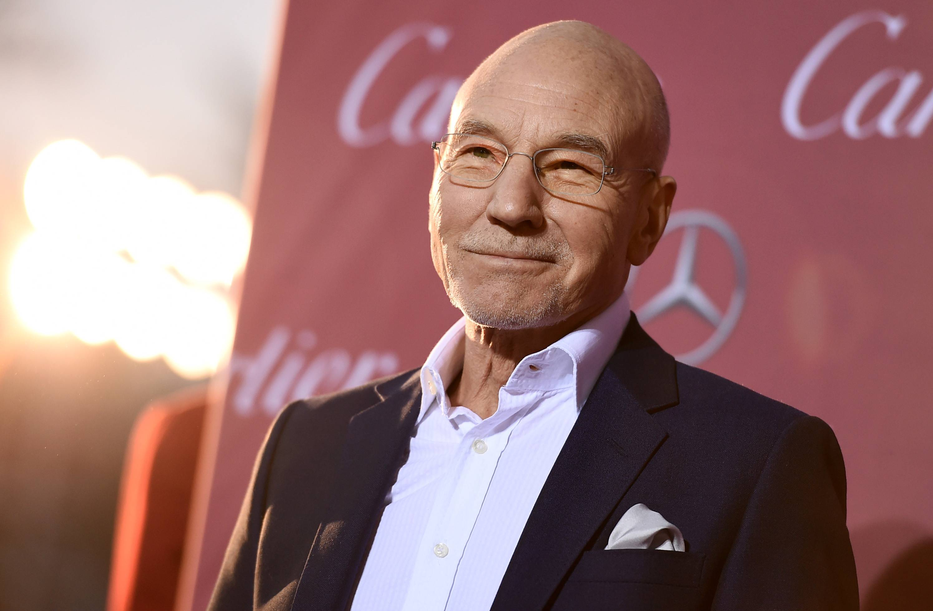 Patrick Stewart arrives at the 26th annual Palm Springs International Film Festival Awards Gala on Saturday, Jan. 3, 2015, in Palm Springs, Calif.