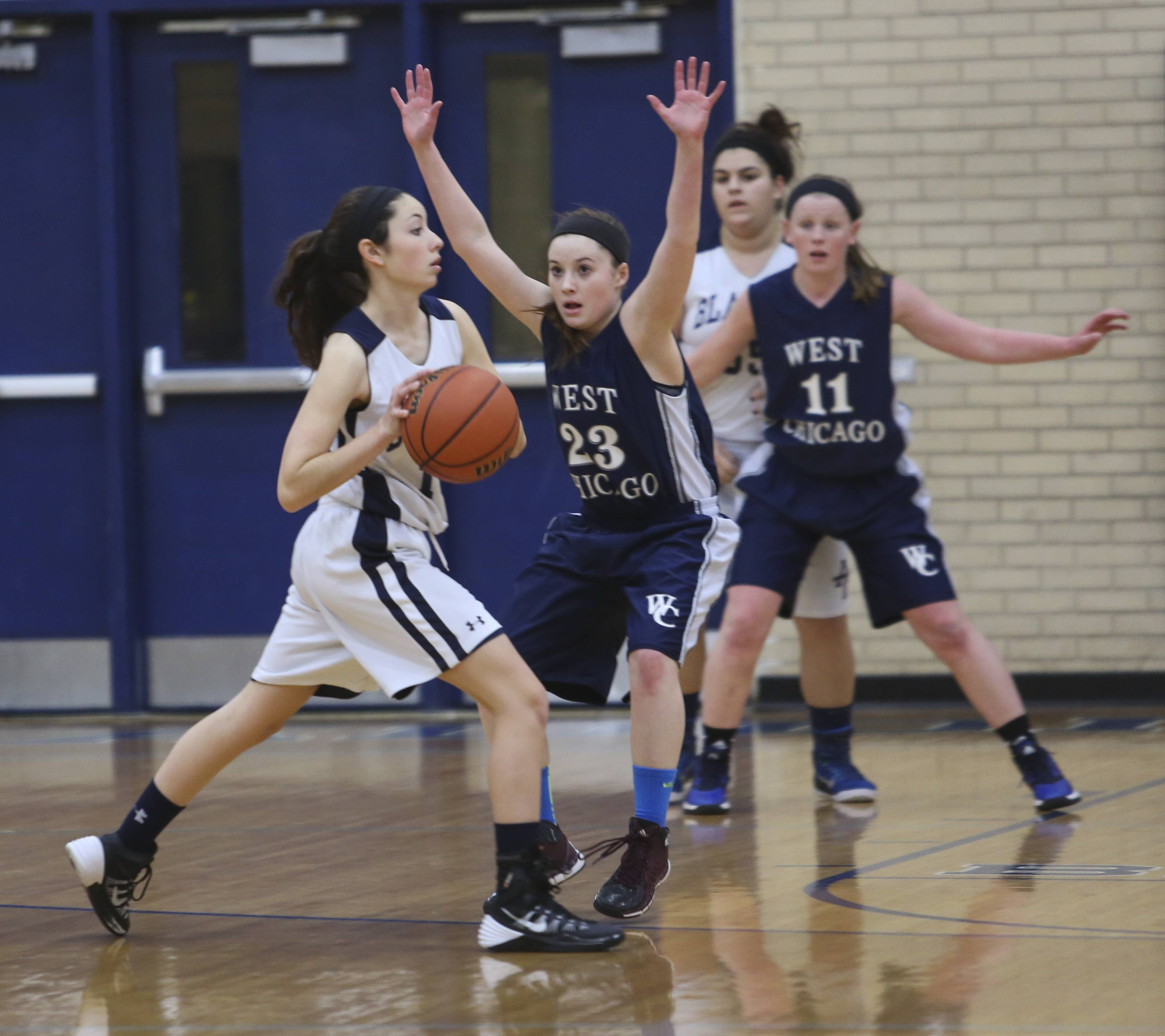 Addison Trail hosted West Chicago Tuesday night for girls basketball.