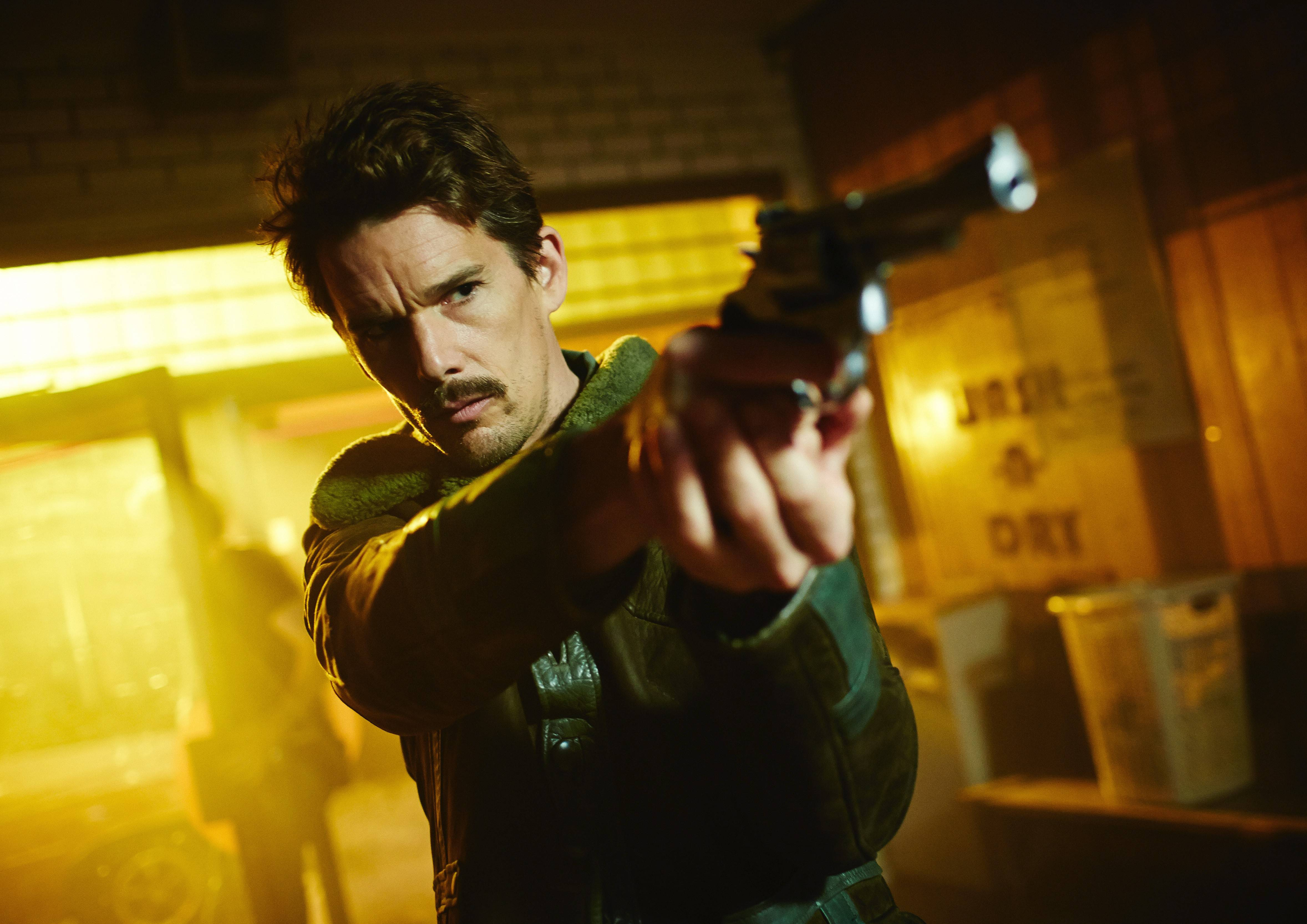 "Ethan Hawke plays a temporal agent in the twisty science-fiction thriller ""Predestination."""
