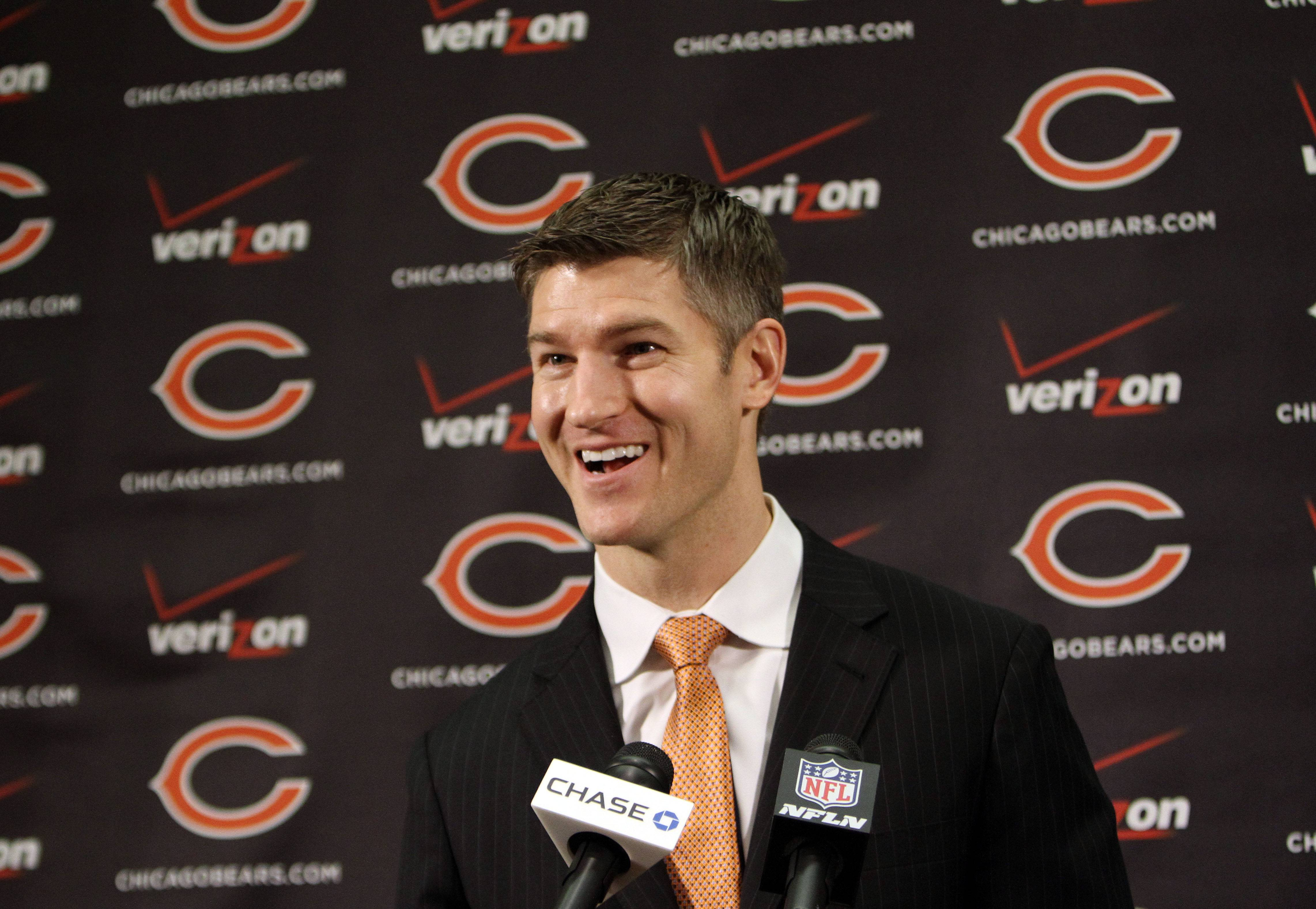 Ryan Pace addressed the media after being announced as the Chicago Bears General Manager.