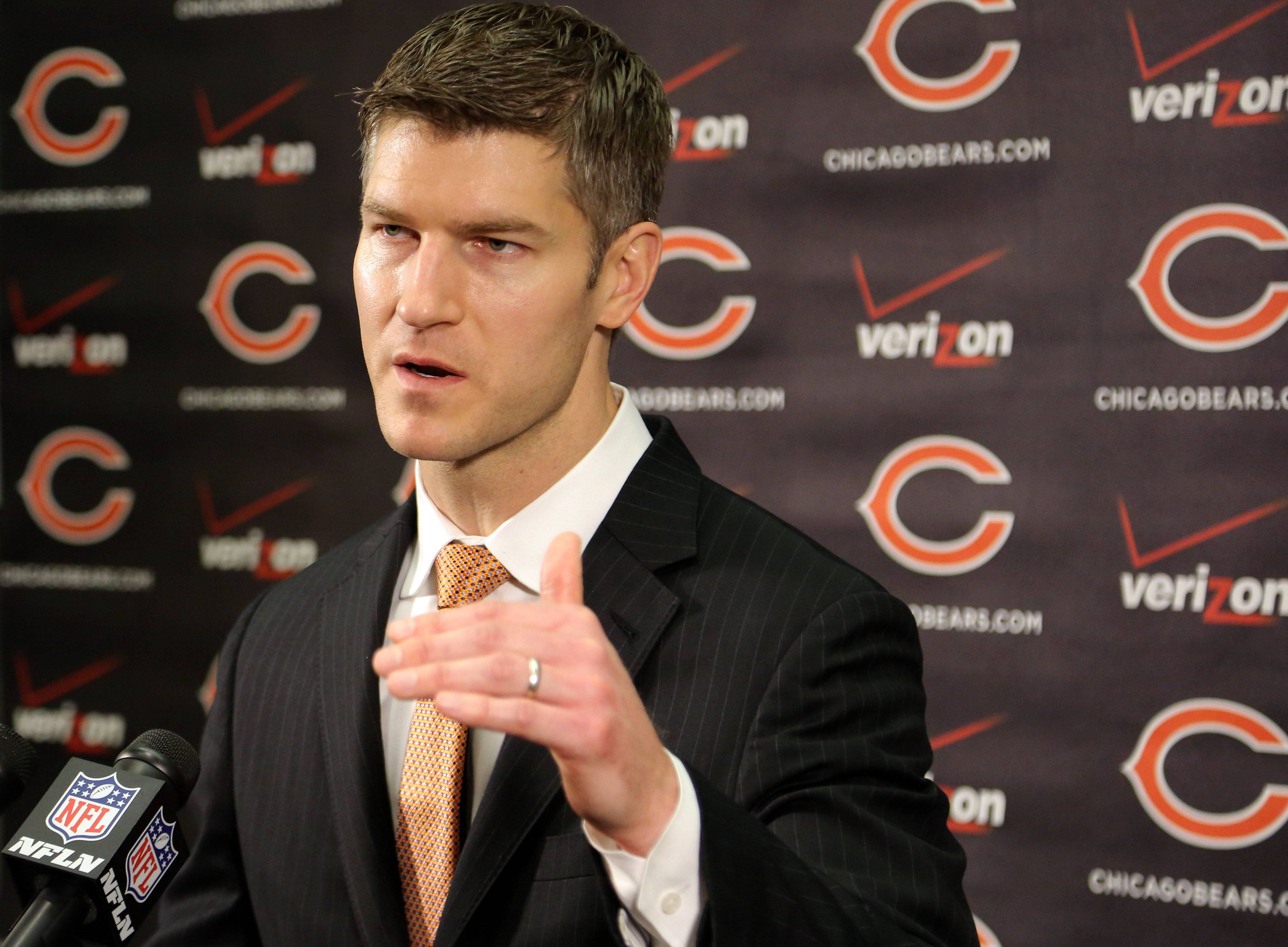 Ryan Pace, the new general manager for the Chicago Bears, says he will have final say on all football decisions.