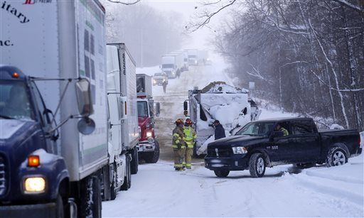 Snow, ice lead to crashes around state